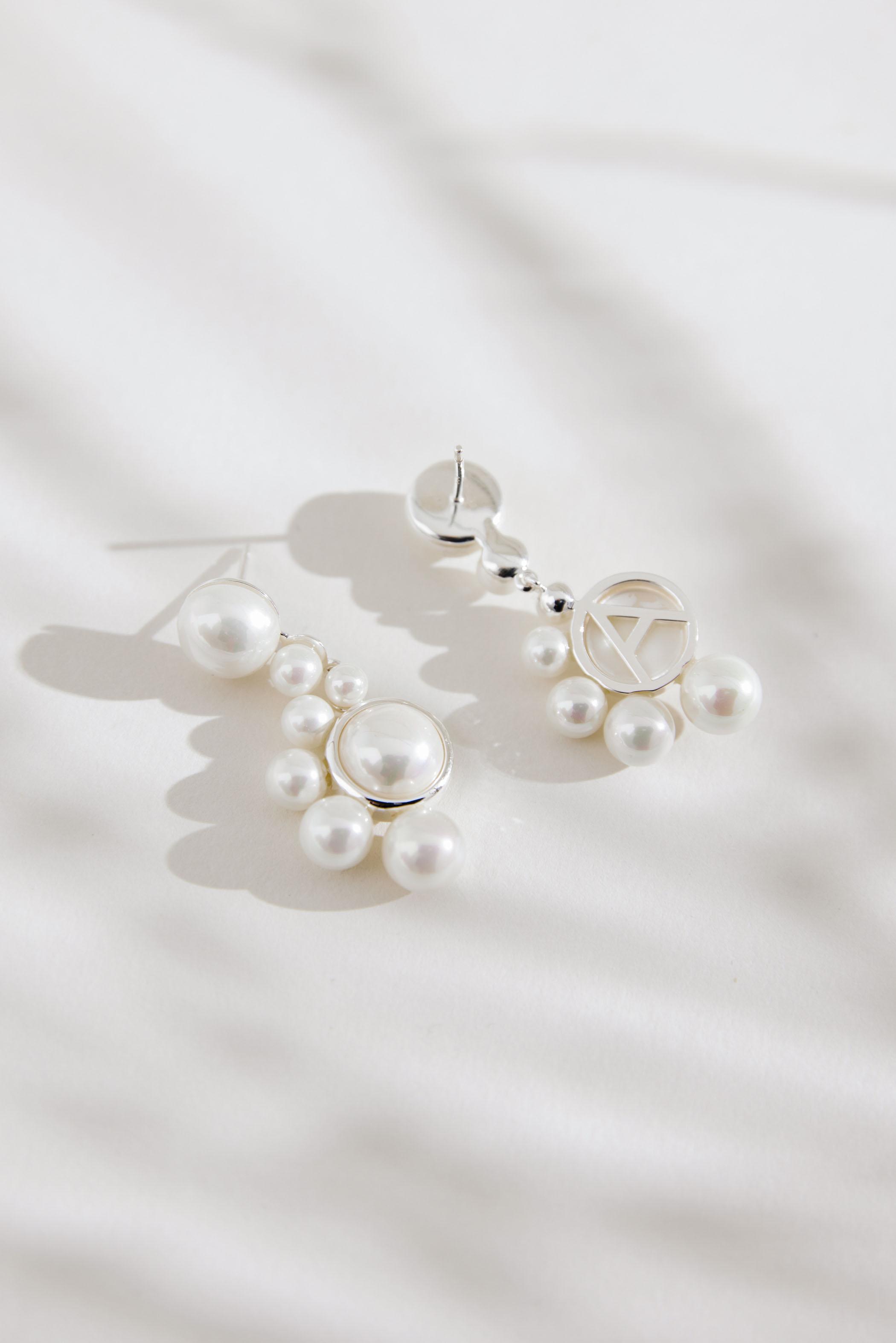 Amélie George Bridal Pearl Earrings