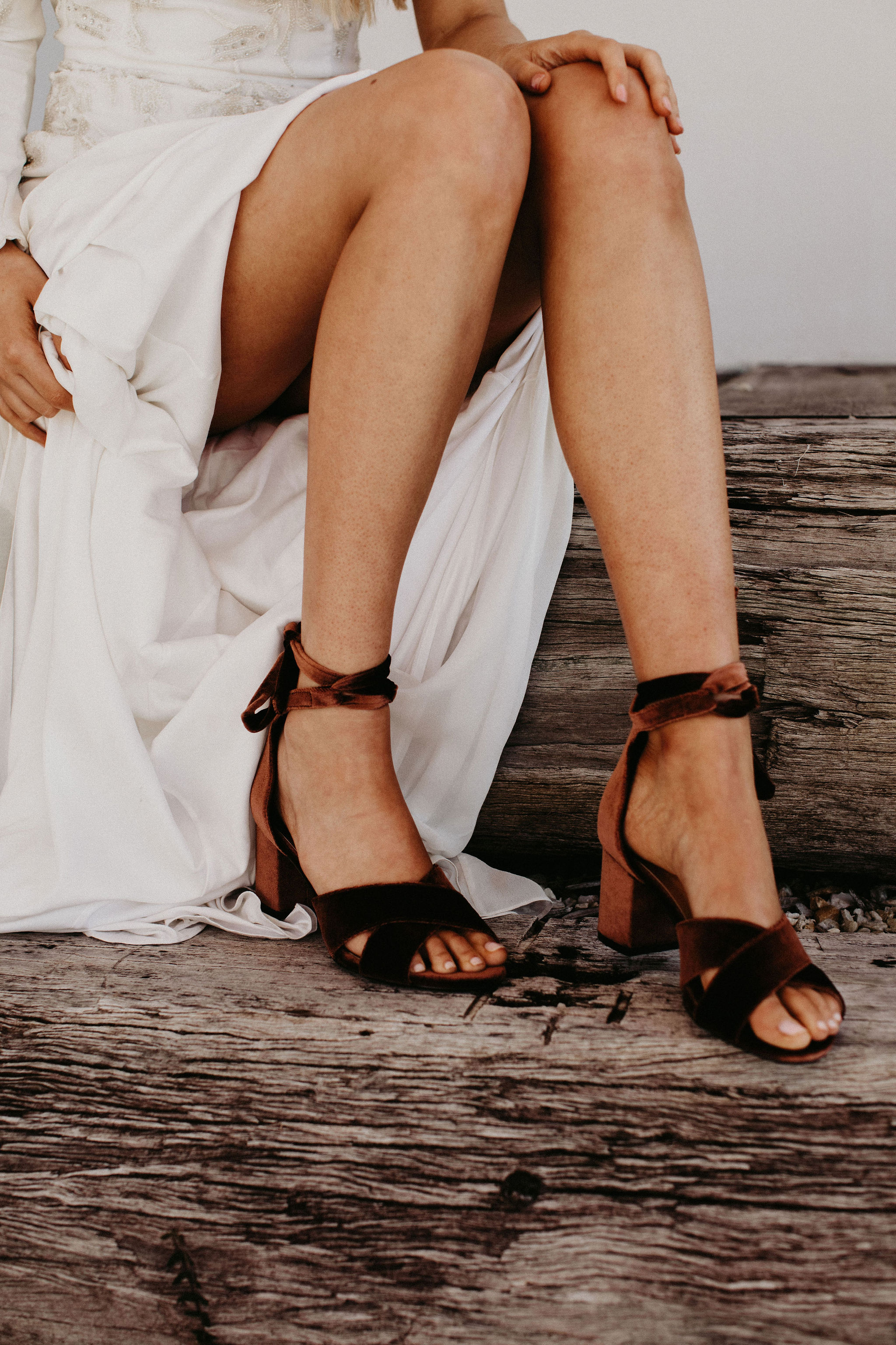 Rust Velvet Wedding Shoes by Forever Soles