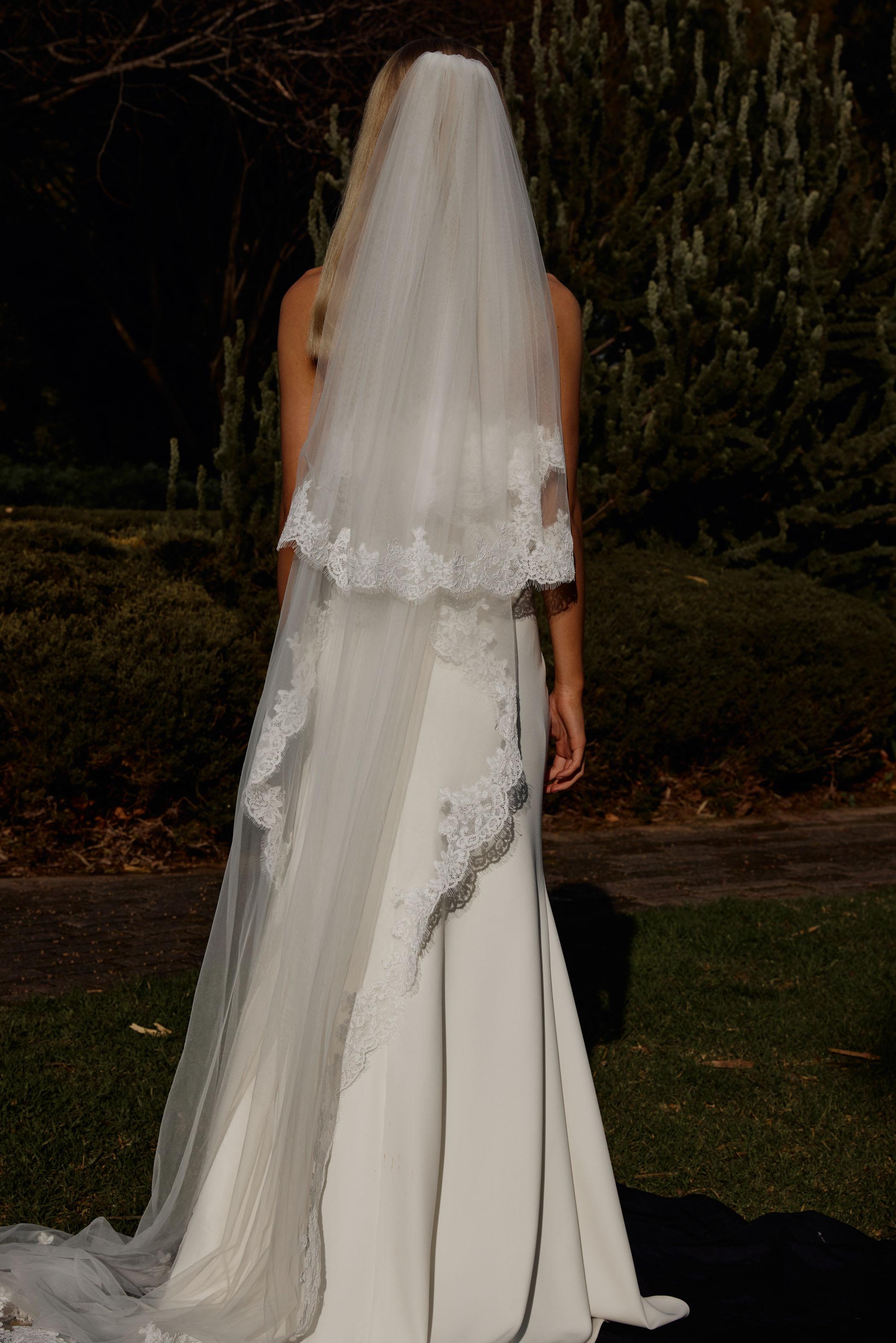Amélie George Bridal detachable veil