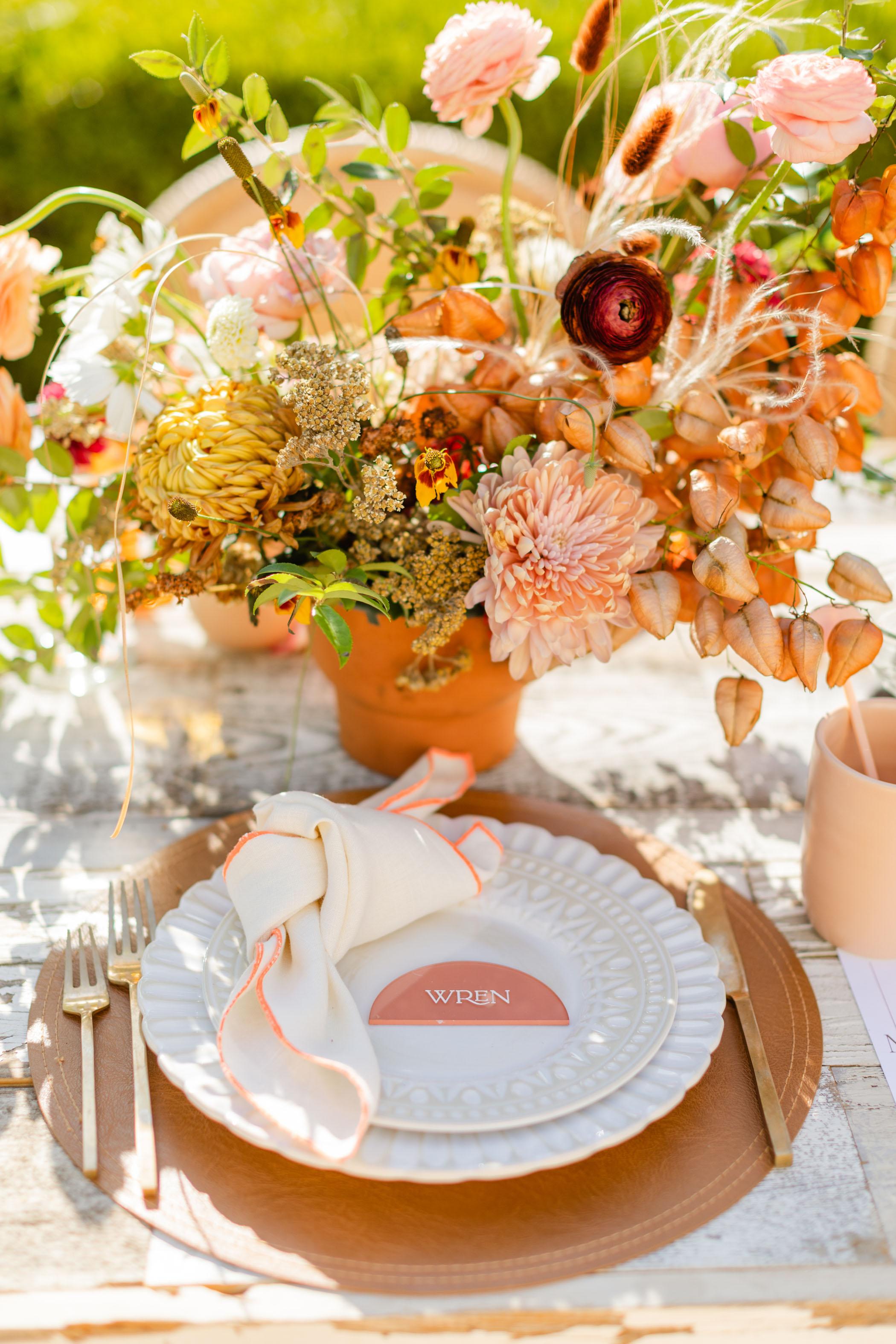 California Fall Bridal Shower Inspiration Tablescape