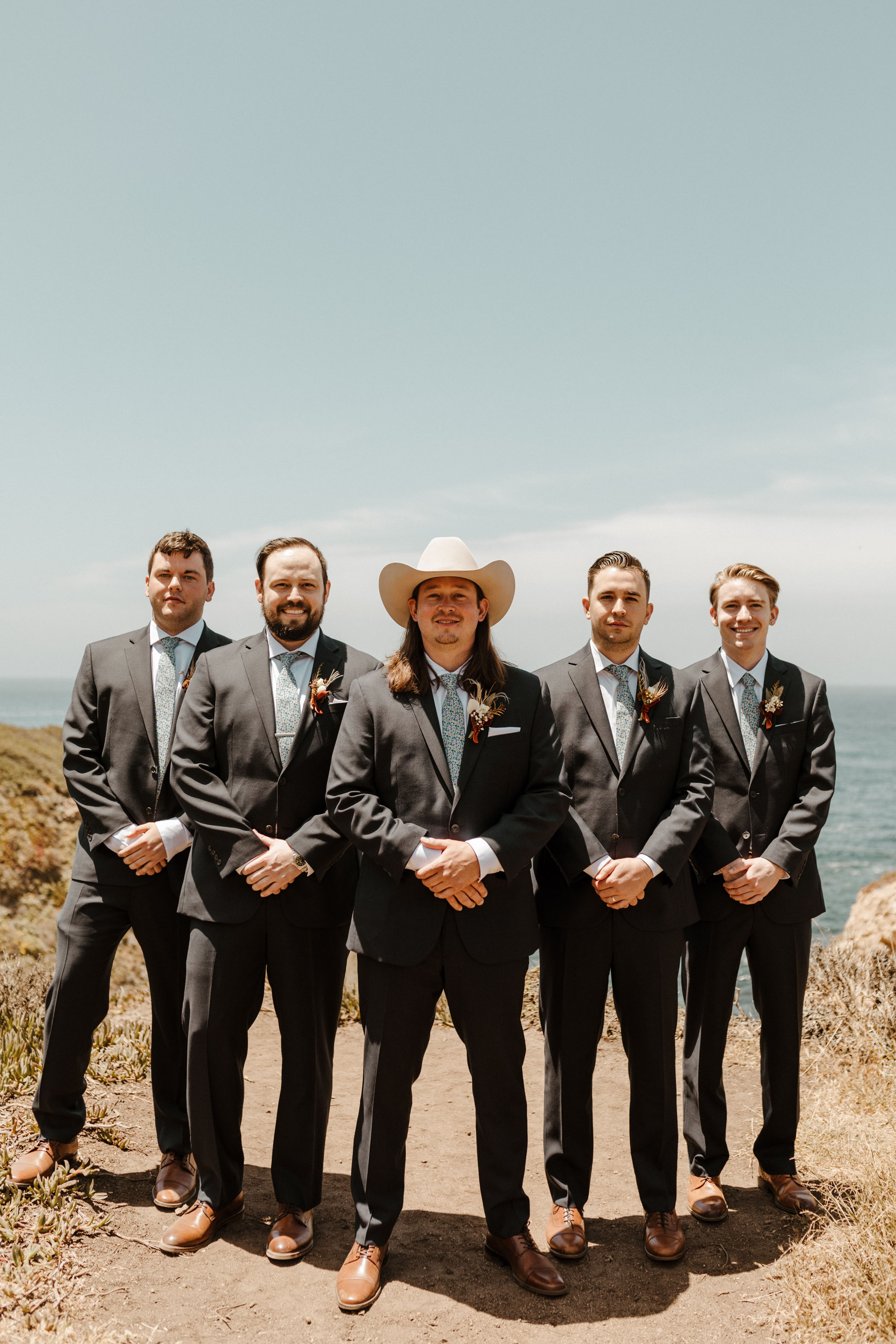 Groomsmen in Big Sur