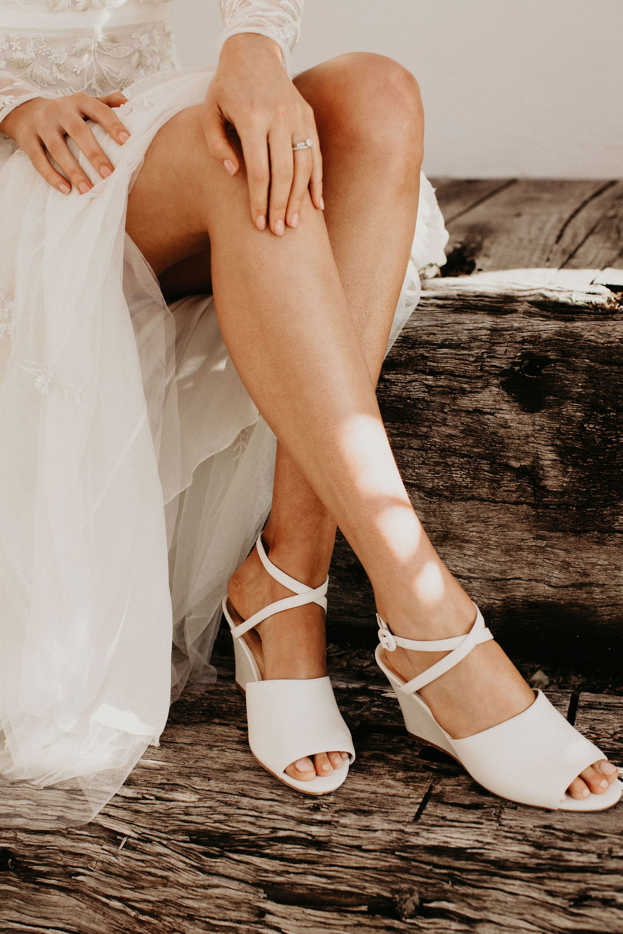 Comfortable White Wedding Shoes by Forever Soles