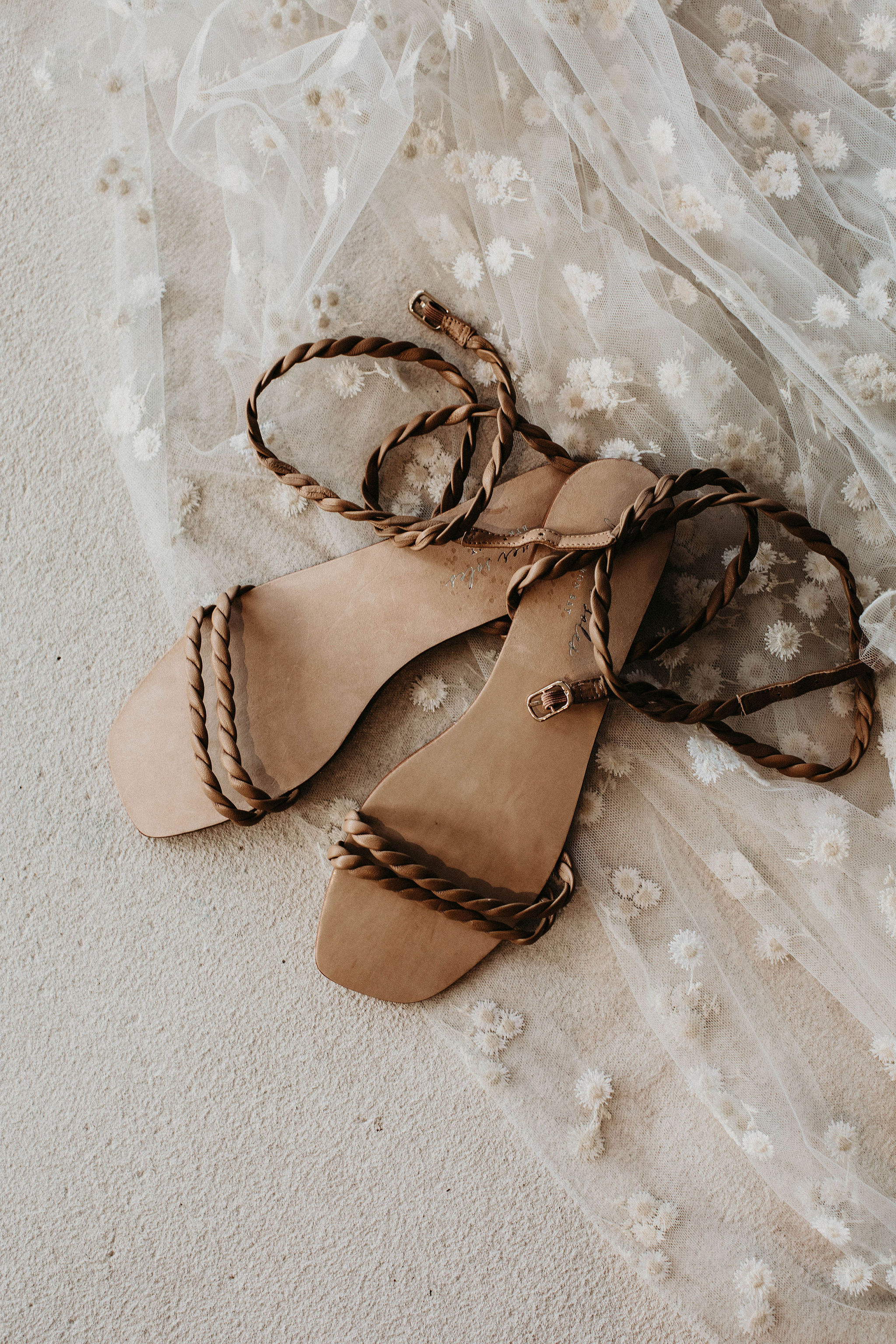 Strappy Wedding Sandals for the Beach