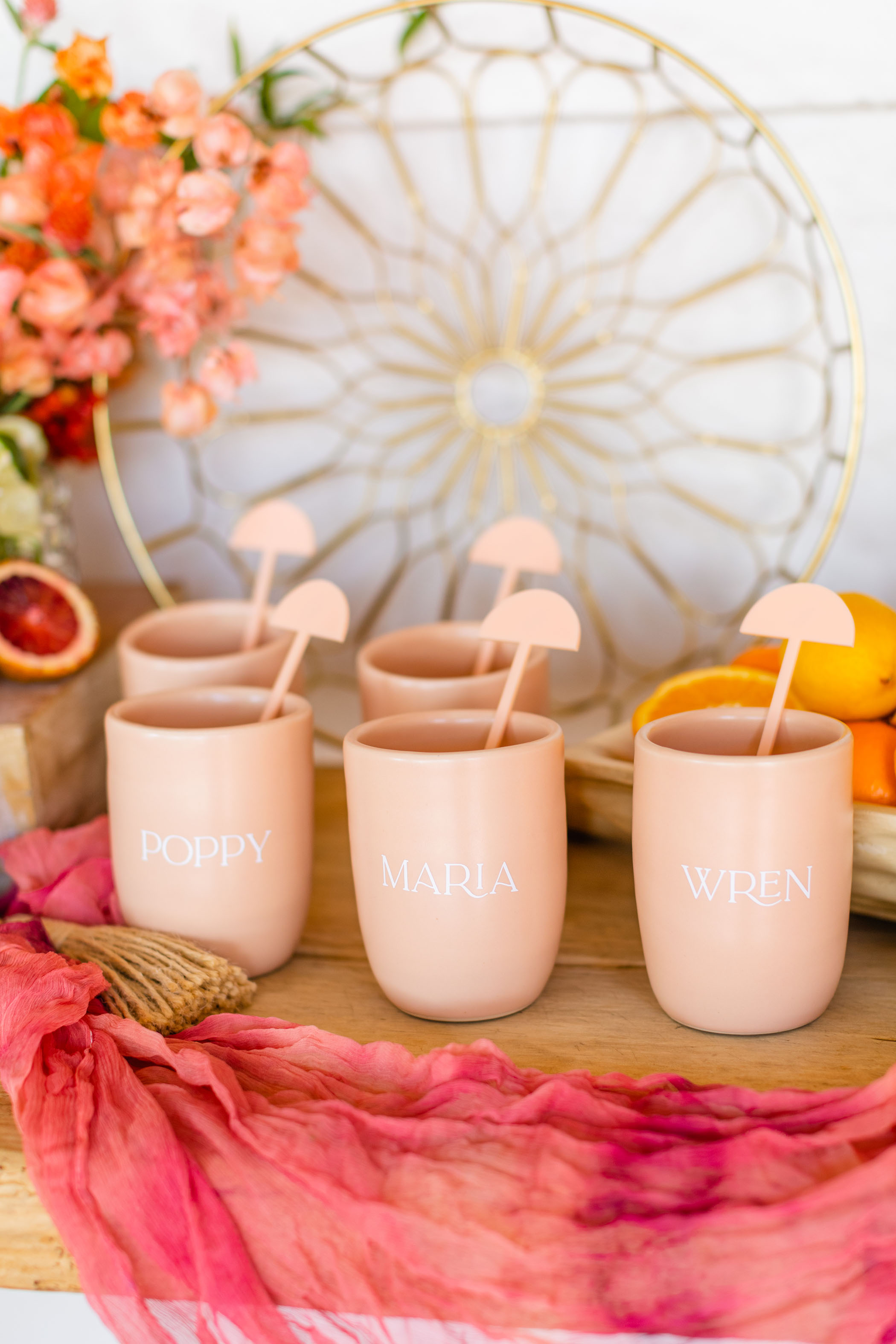 Personalized Cups for Bridal Shower
