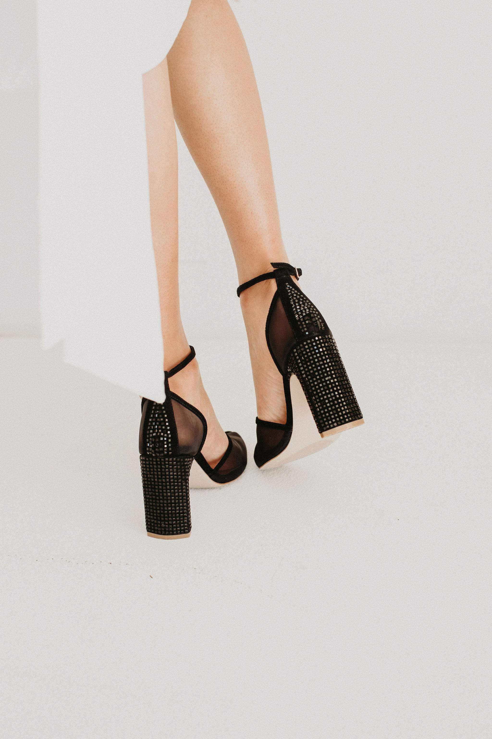 Comfortable Black Wedding Heels