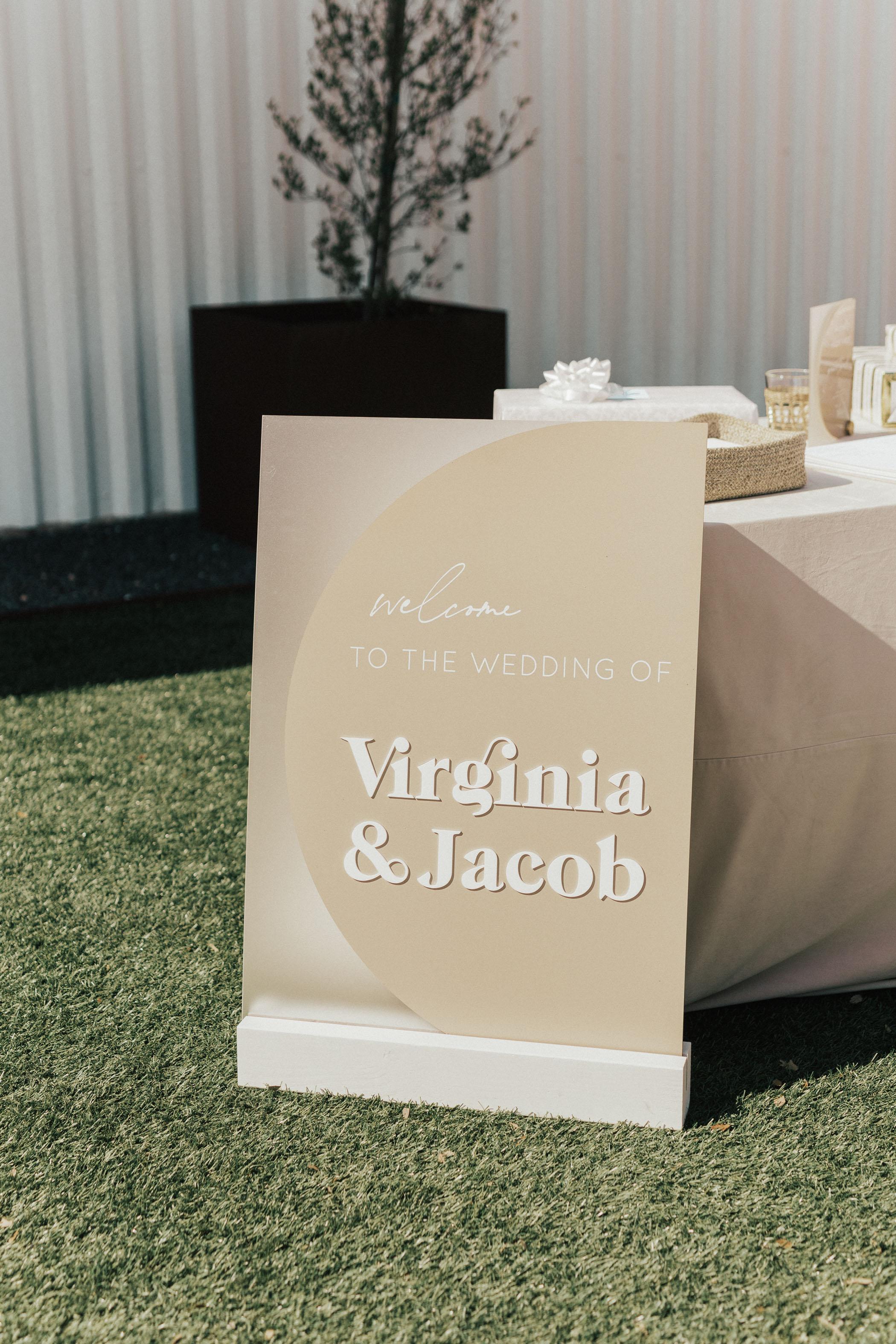 Modern Boho Wedding Ceremony Welcome Sign