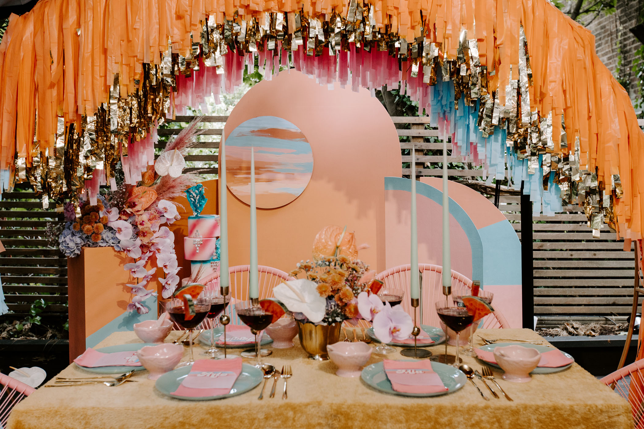 Roller Disco Inspired Reception