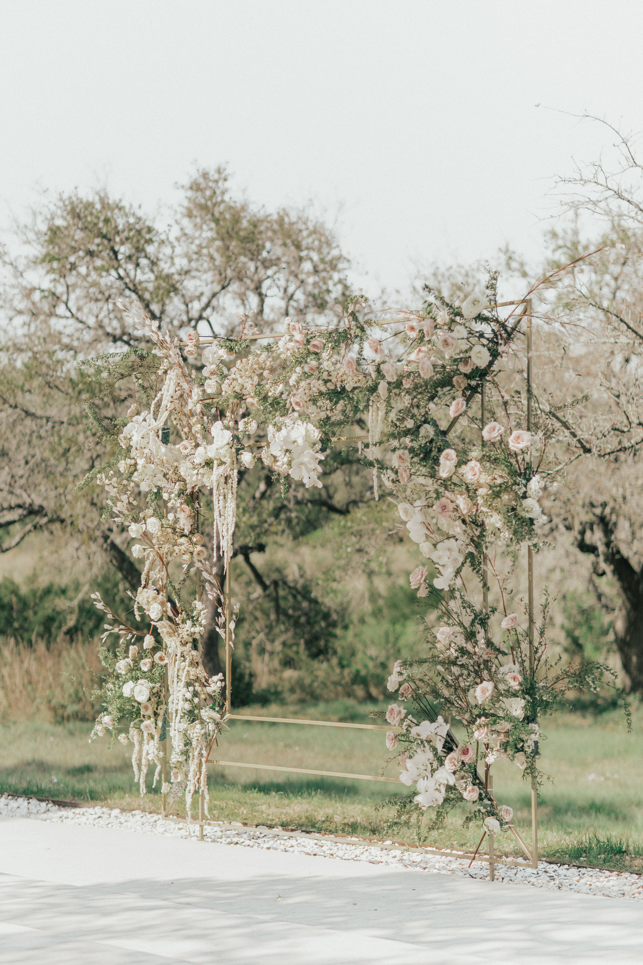 Wedding Backdrop with Hanging Florals
