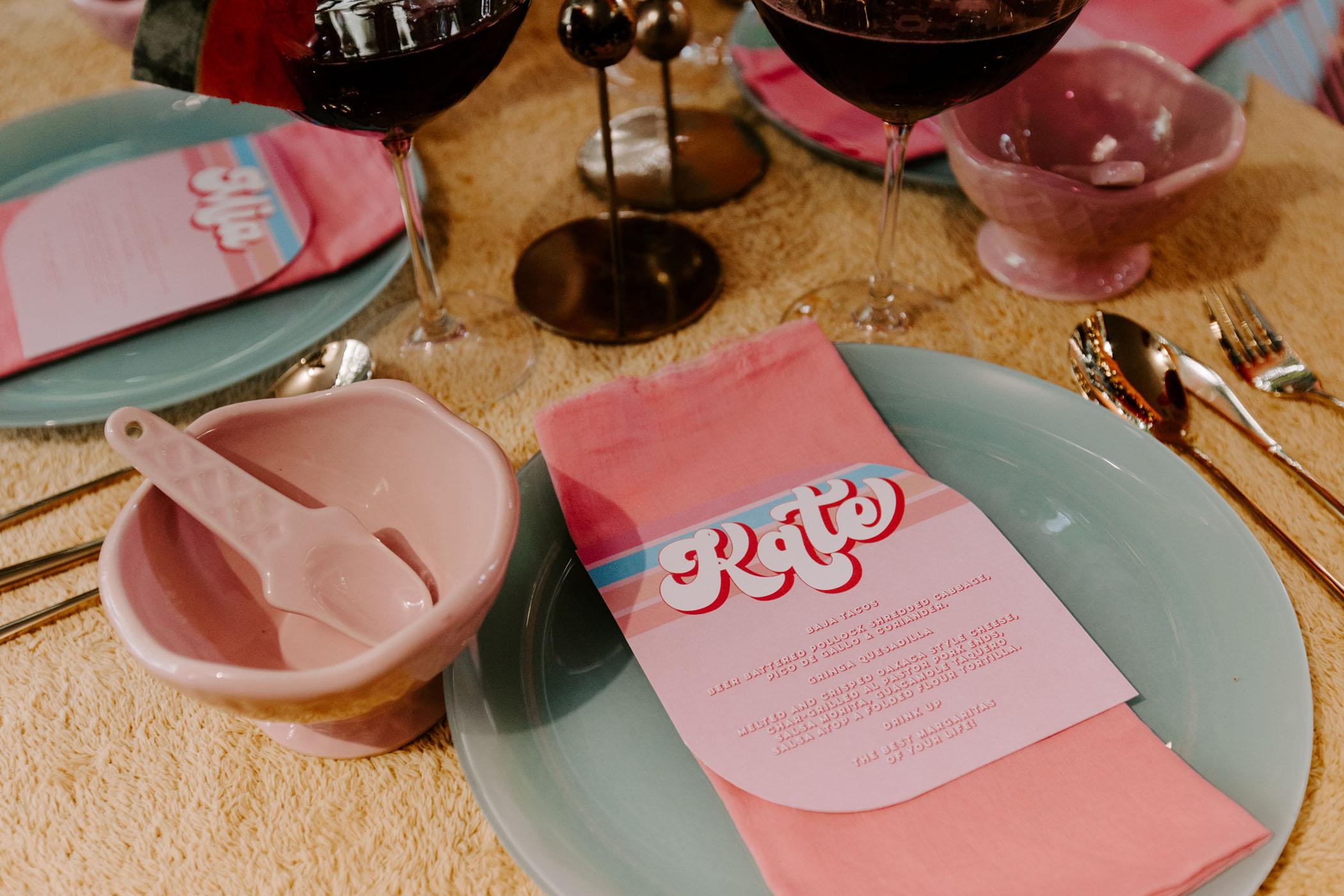 retro table menus