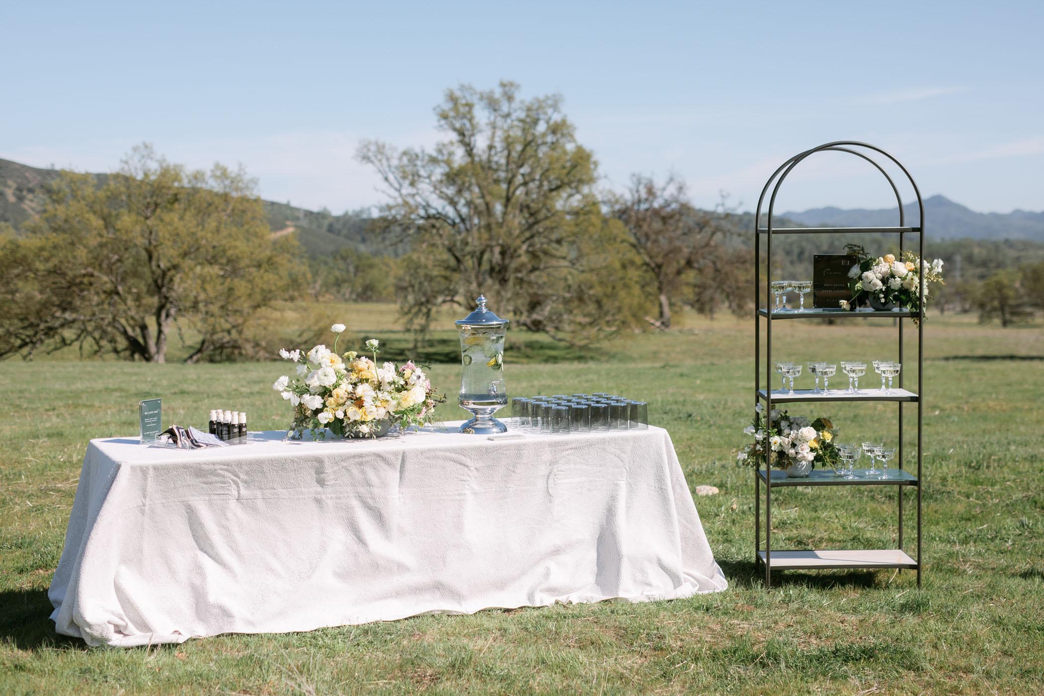 Modern Outdoor Wedding Reception