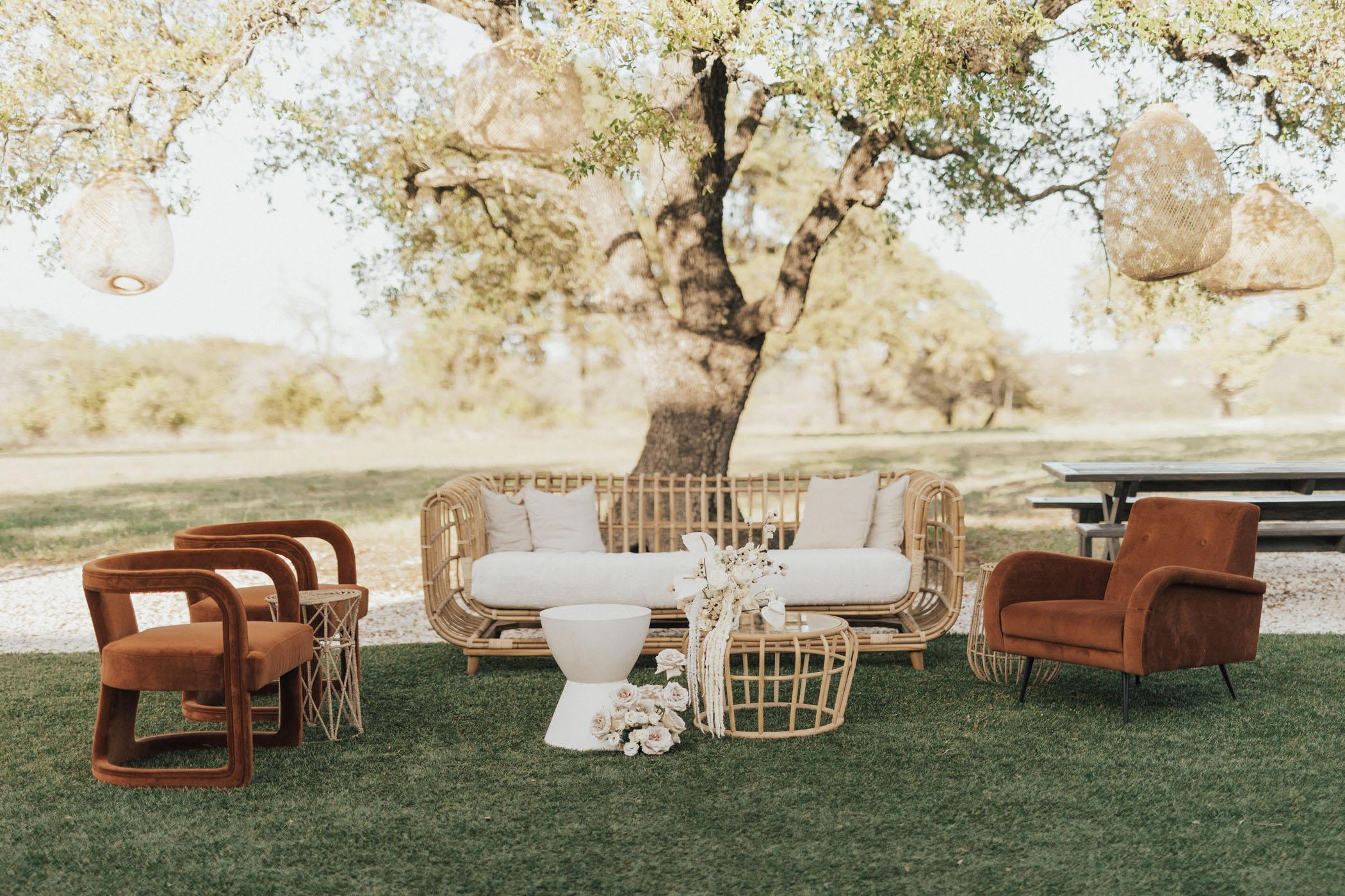 Boho Terracotta Wedding Lounge