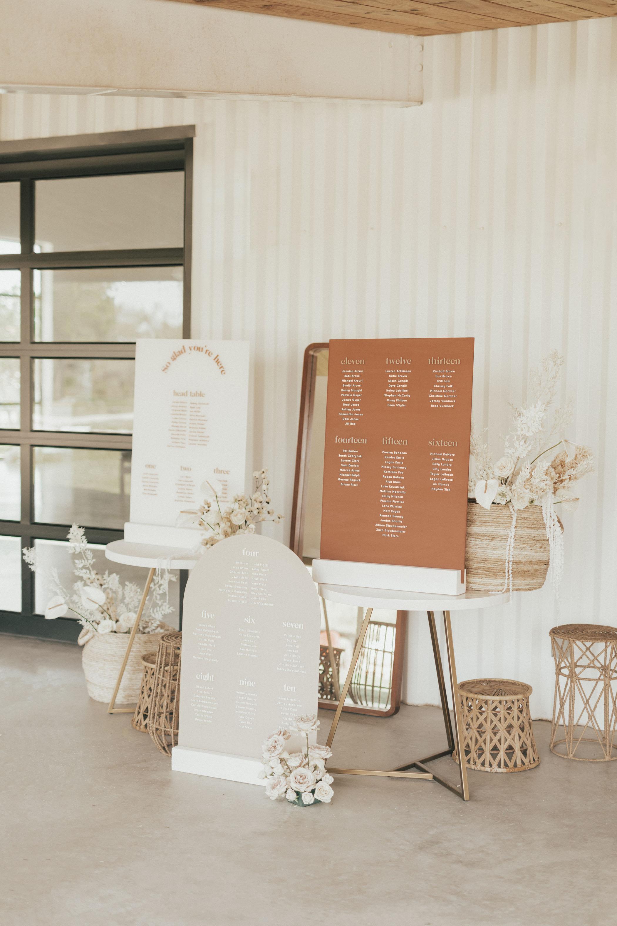 Boho Terracotta Wedding Signs