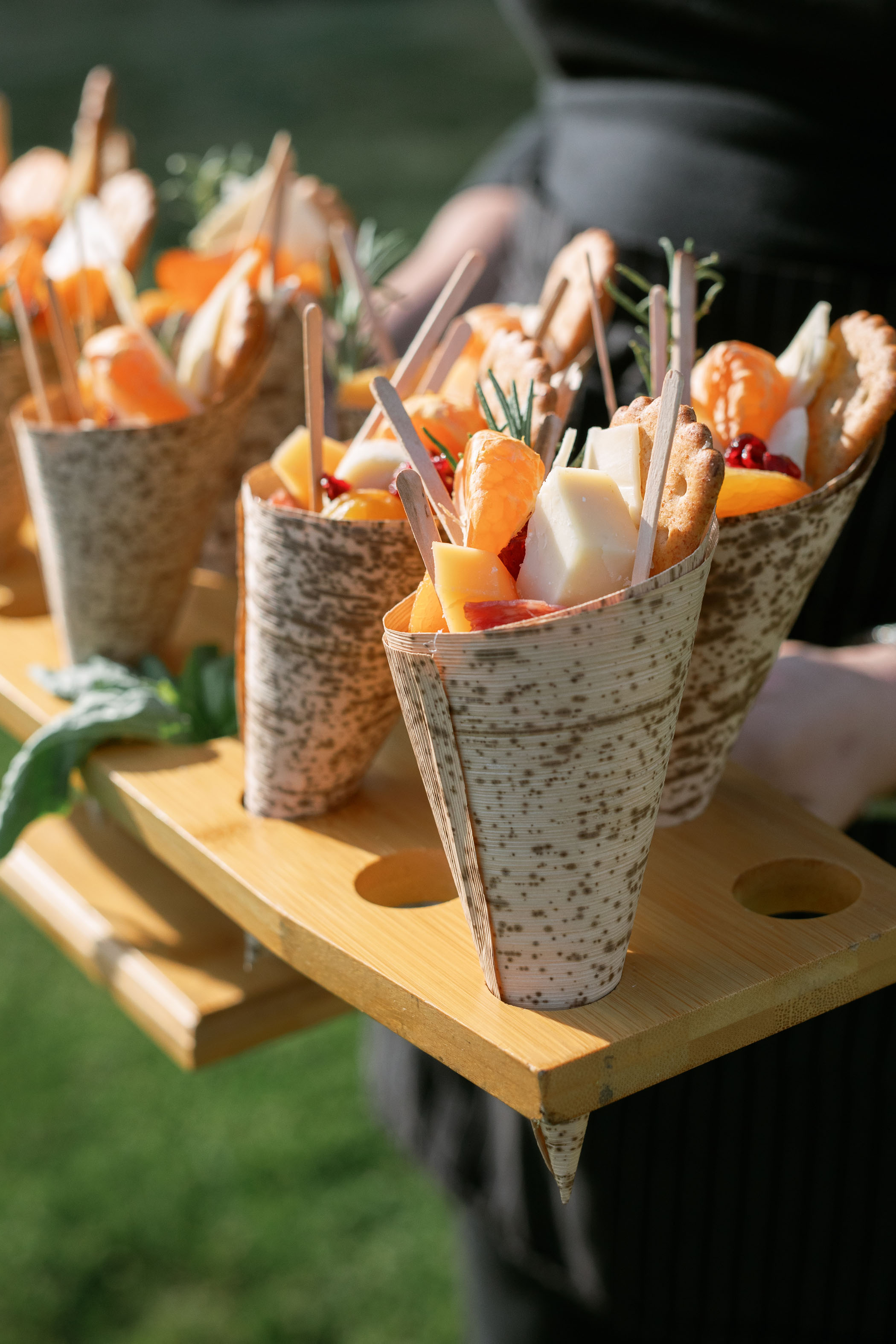 Wedding Appetizers in a Cone