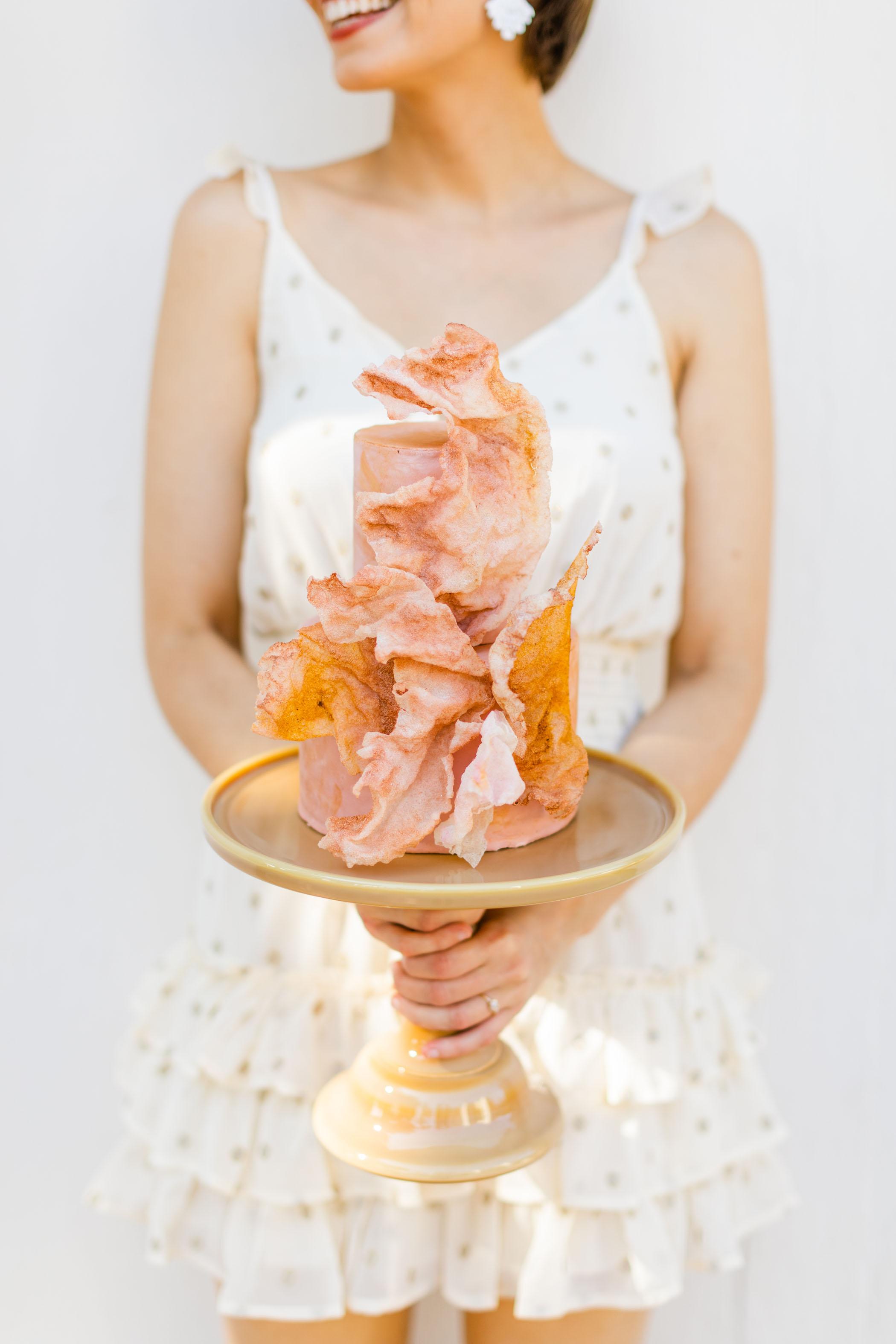 Small Unique Cake for a Bridal Shower