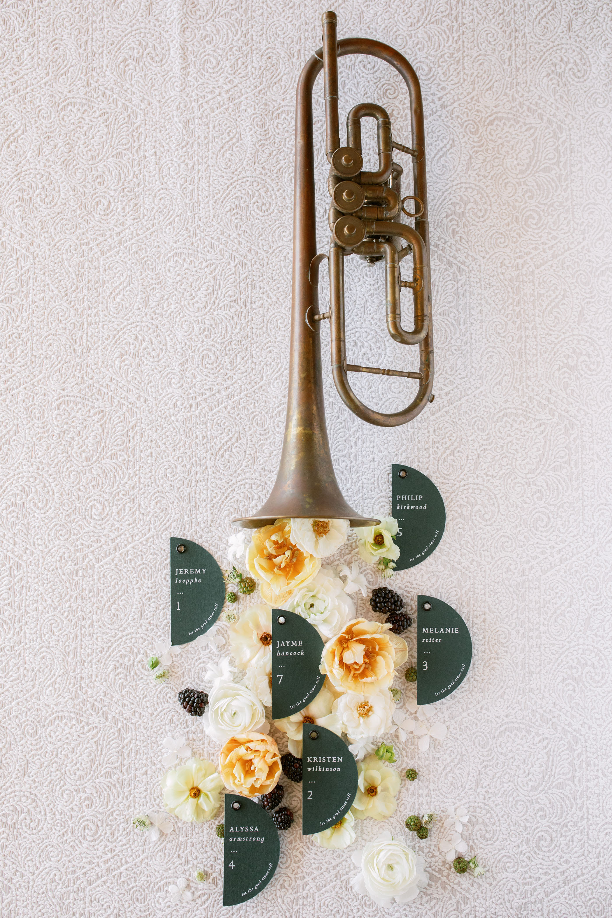 New Orleans-Inspired Wedding Seating Chart
