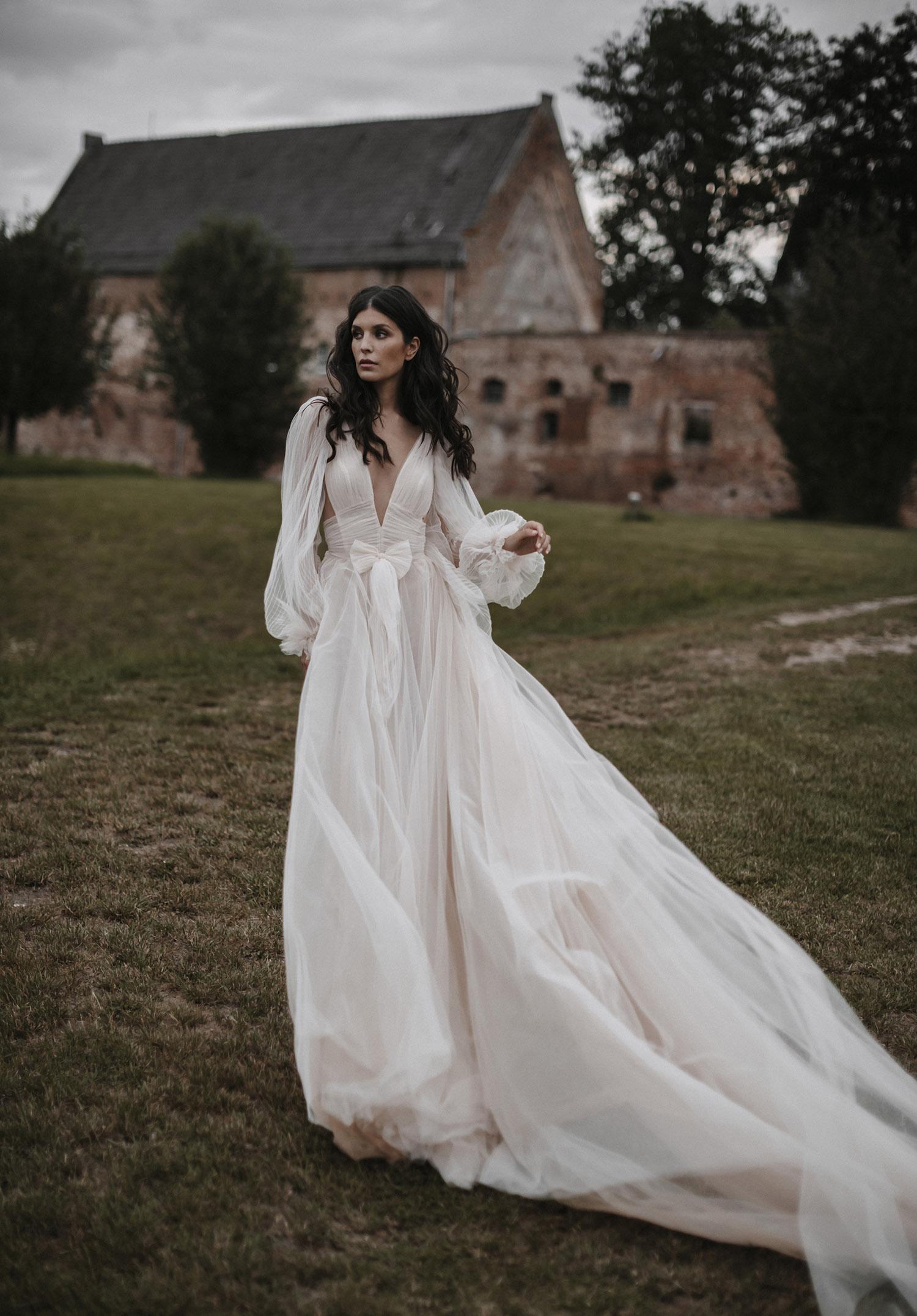 billowy romantic gown