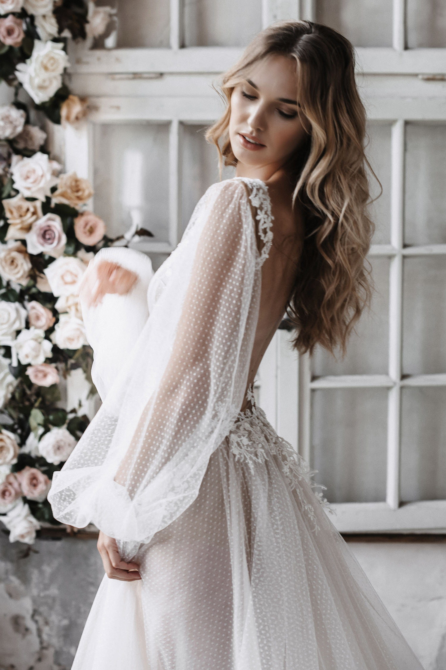 Dotted Tulle Romantic Dress