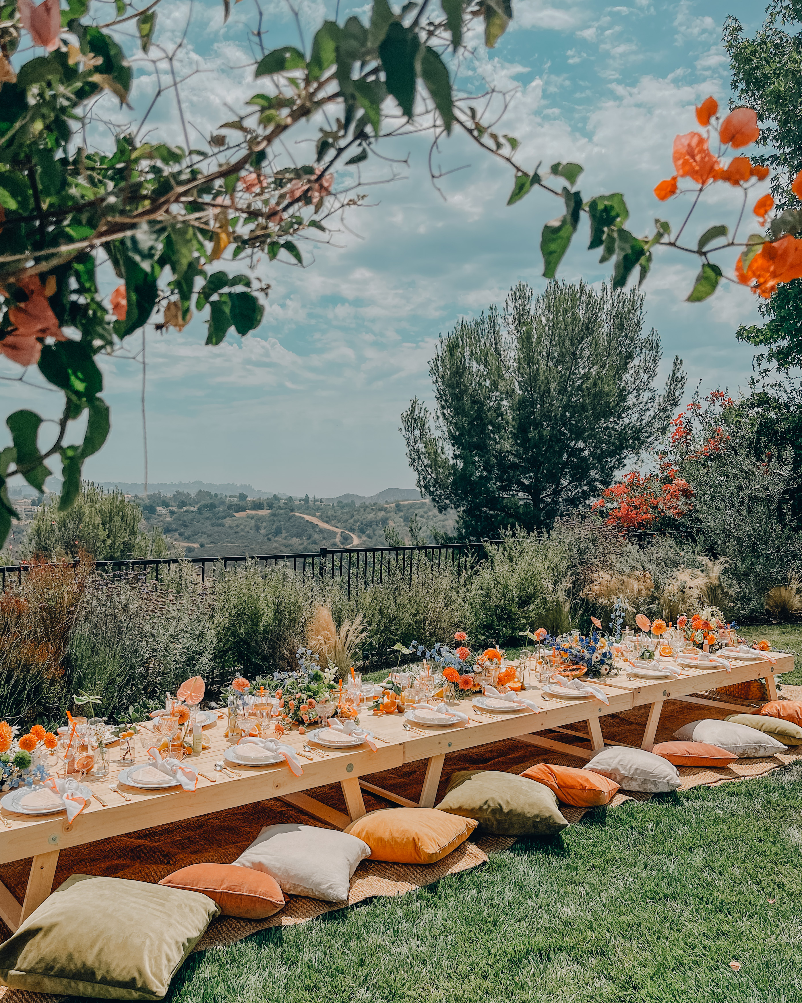 colorful luxury picnic by sunday and gather