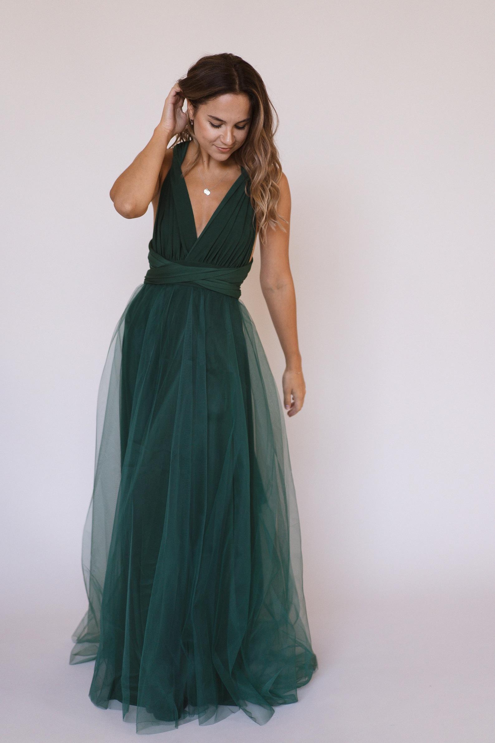 emerald green infinity dress