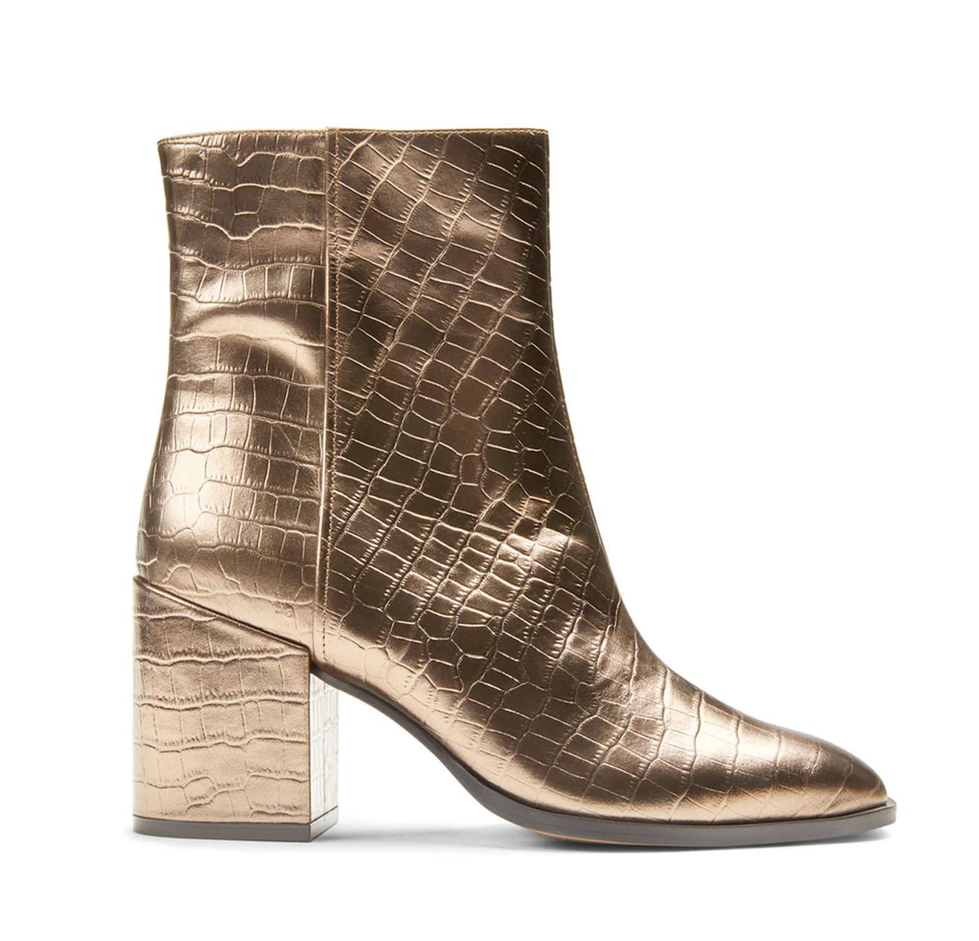 gold metallic wedding boots
