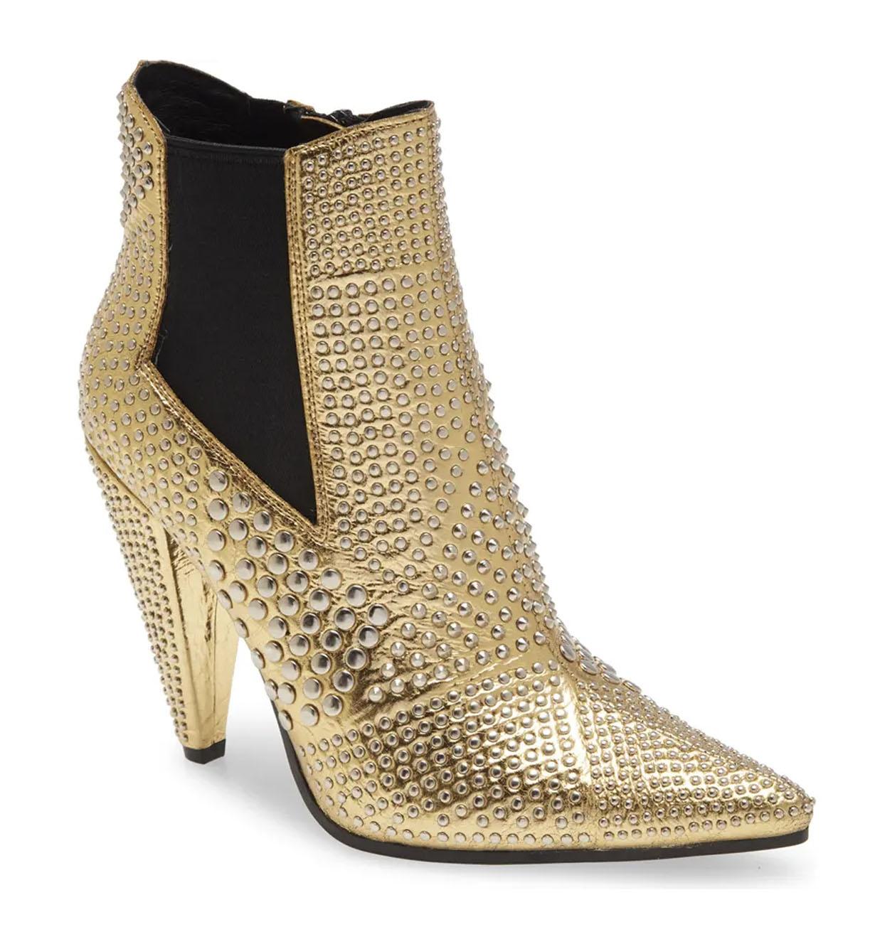gold wedding boot