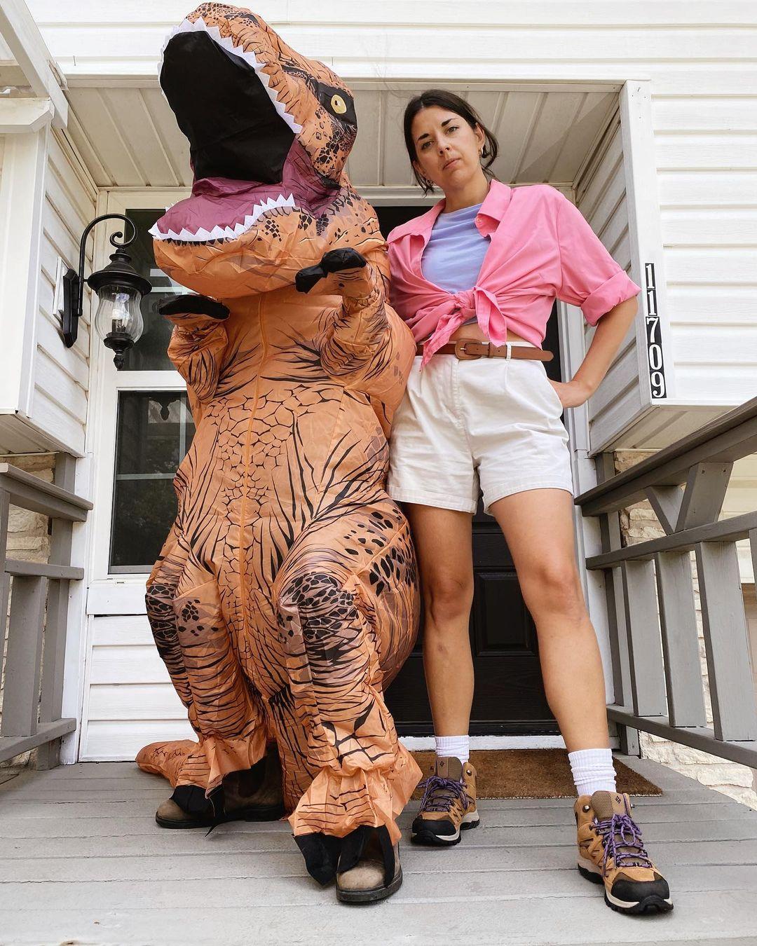 jurassic park funny couple costume