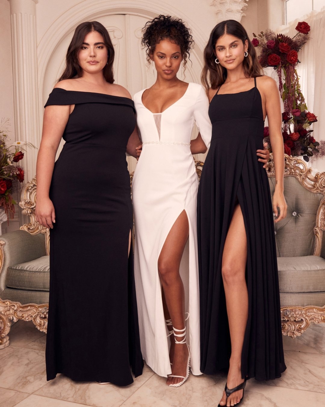 black bridesmaid dresses from lulus