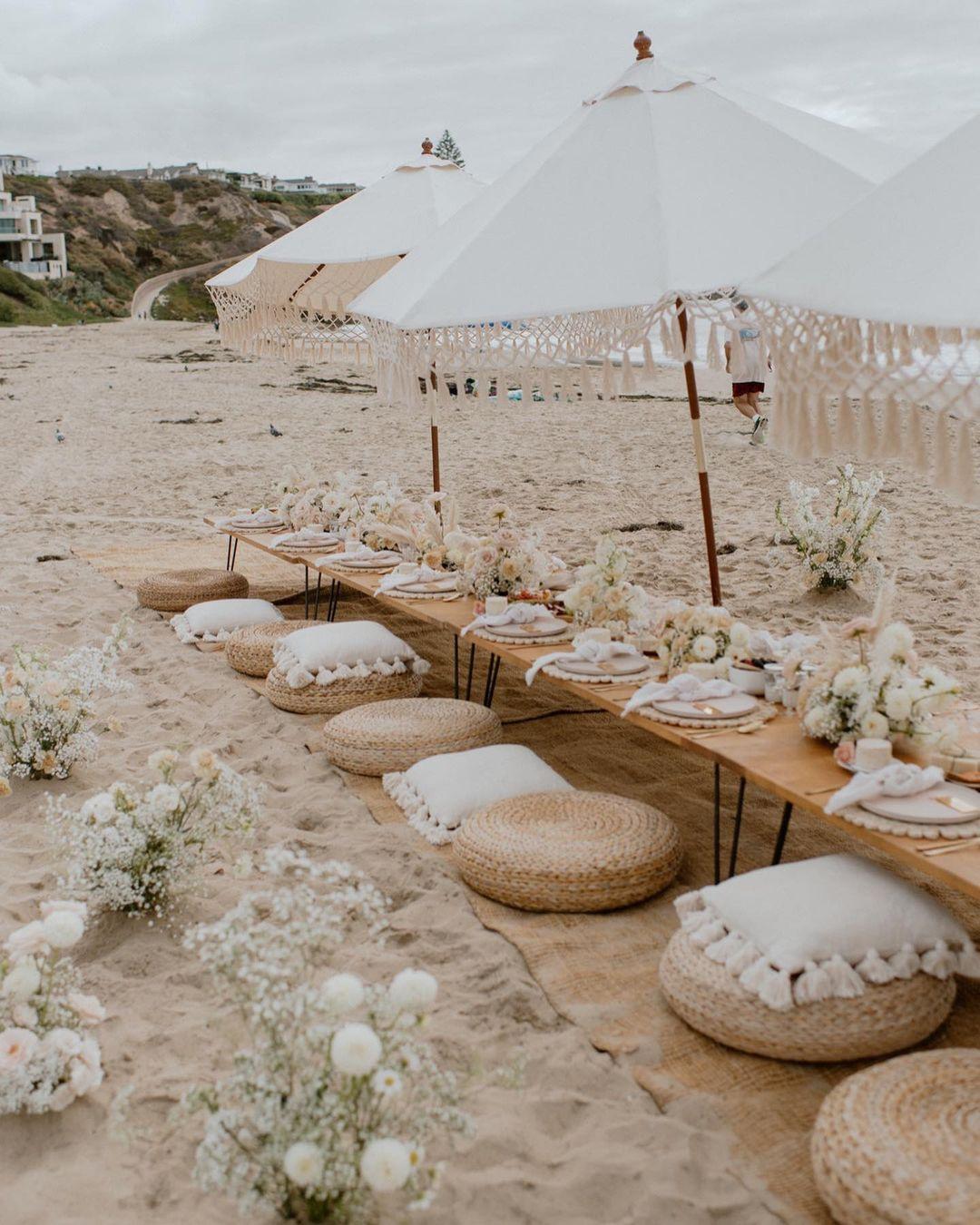 luxury beach picnic bridal shower
