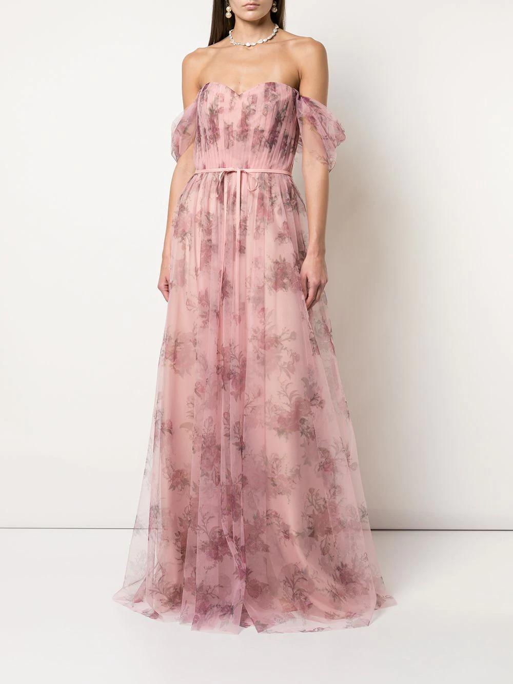 marchessa notte floral bridesmaid dress