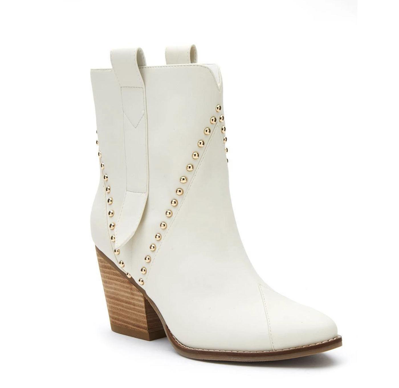 stud embellished wedding-boot