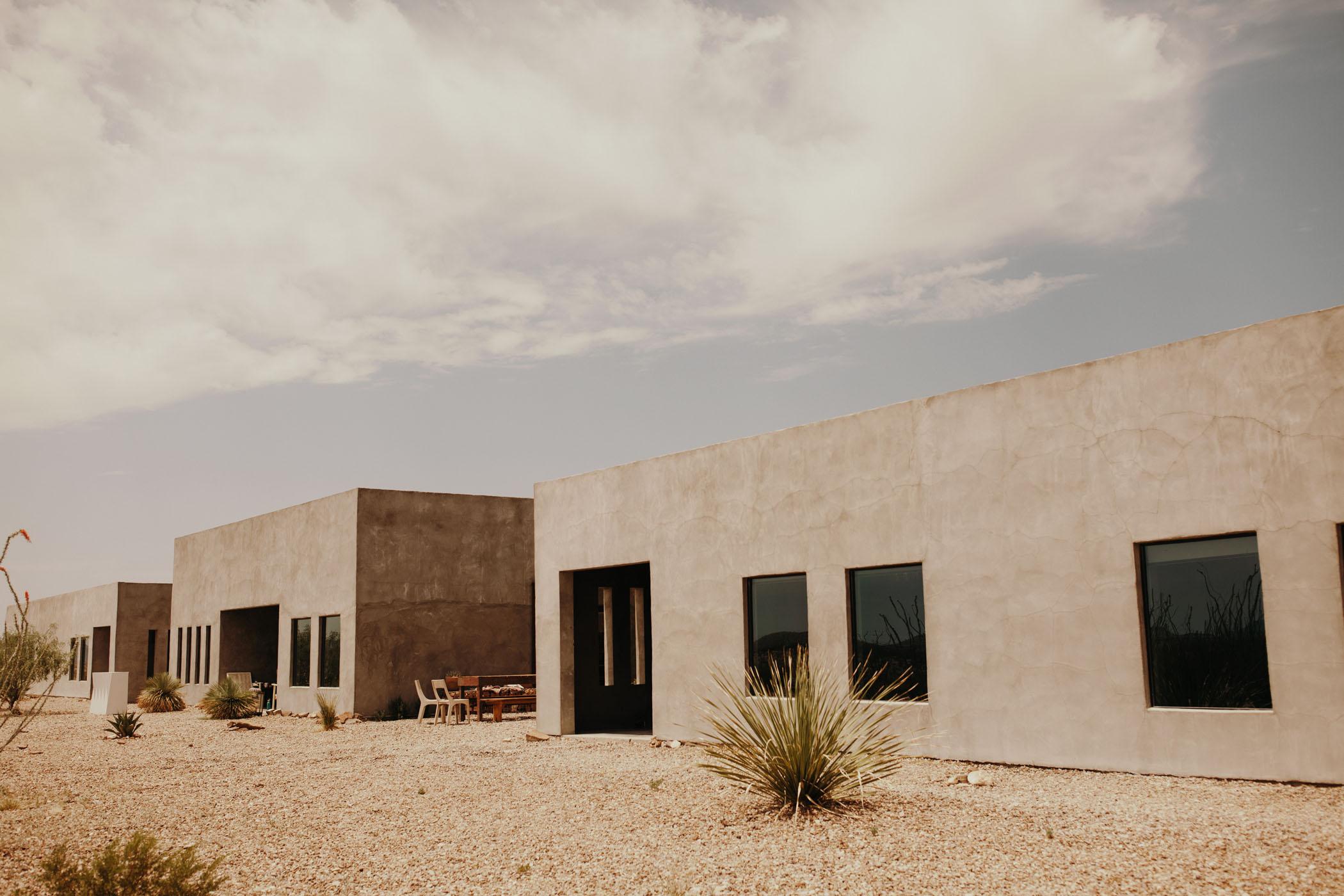 Concrete desert wedding venue in Texas