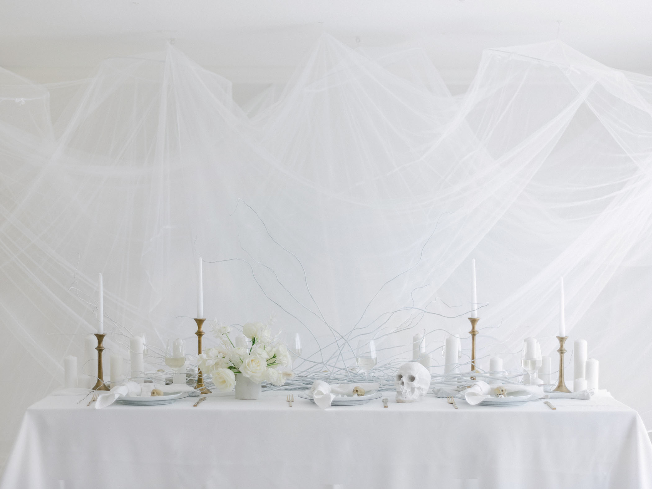 All White Halloween Party Inspiration