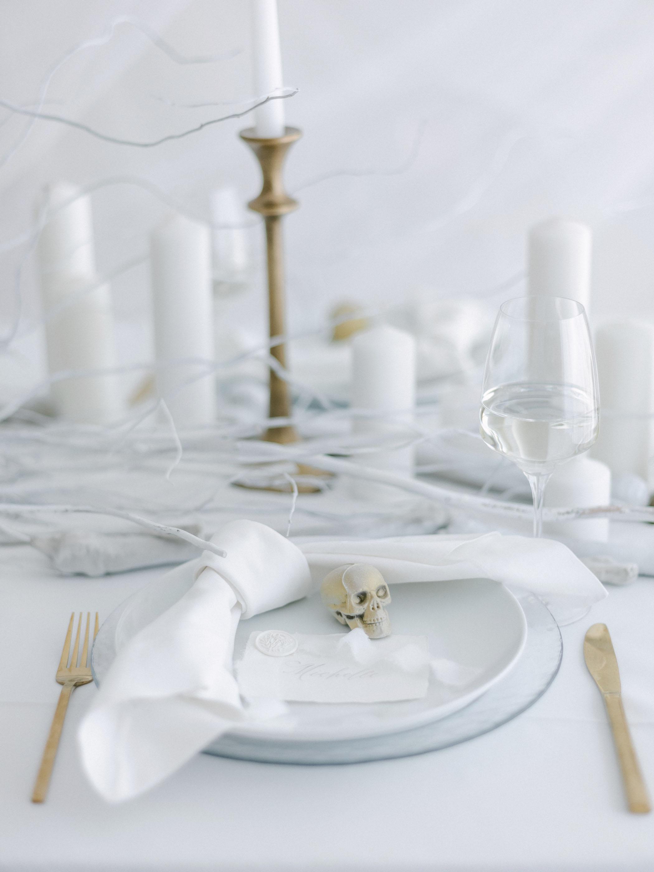 White Skeleton Plate Setting