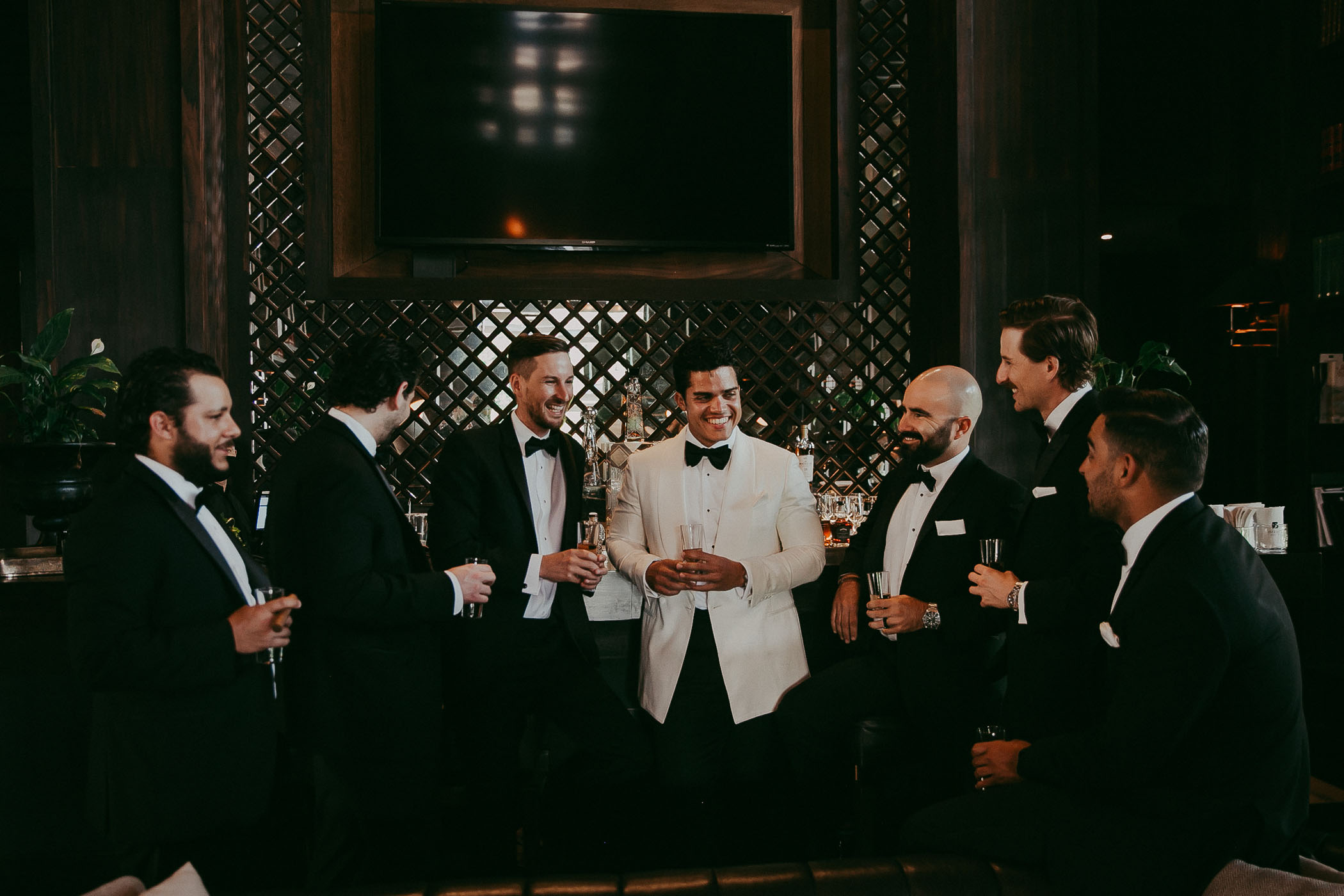 White groom's tuxedo