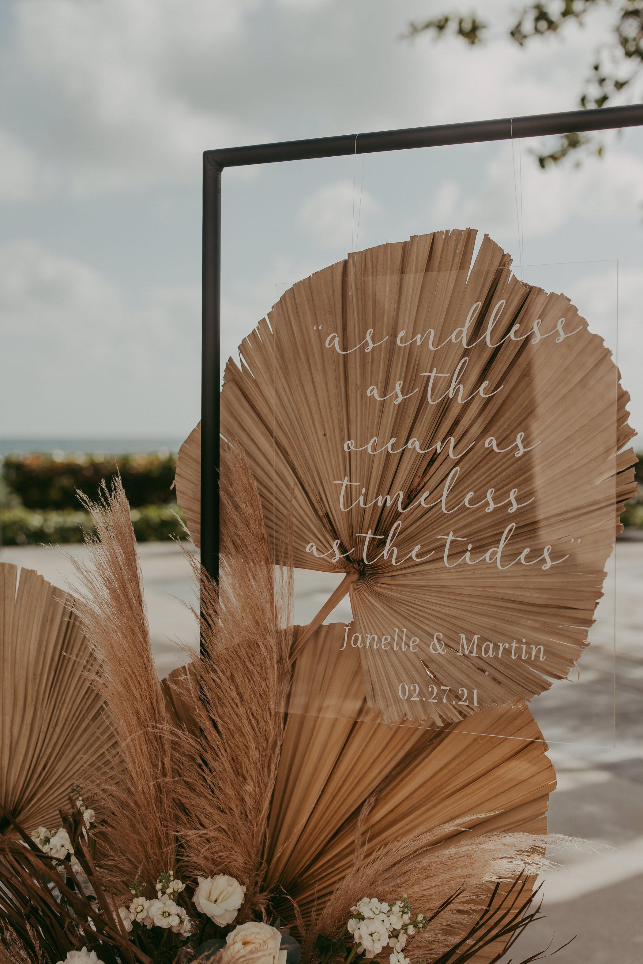 boho palm signage