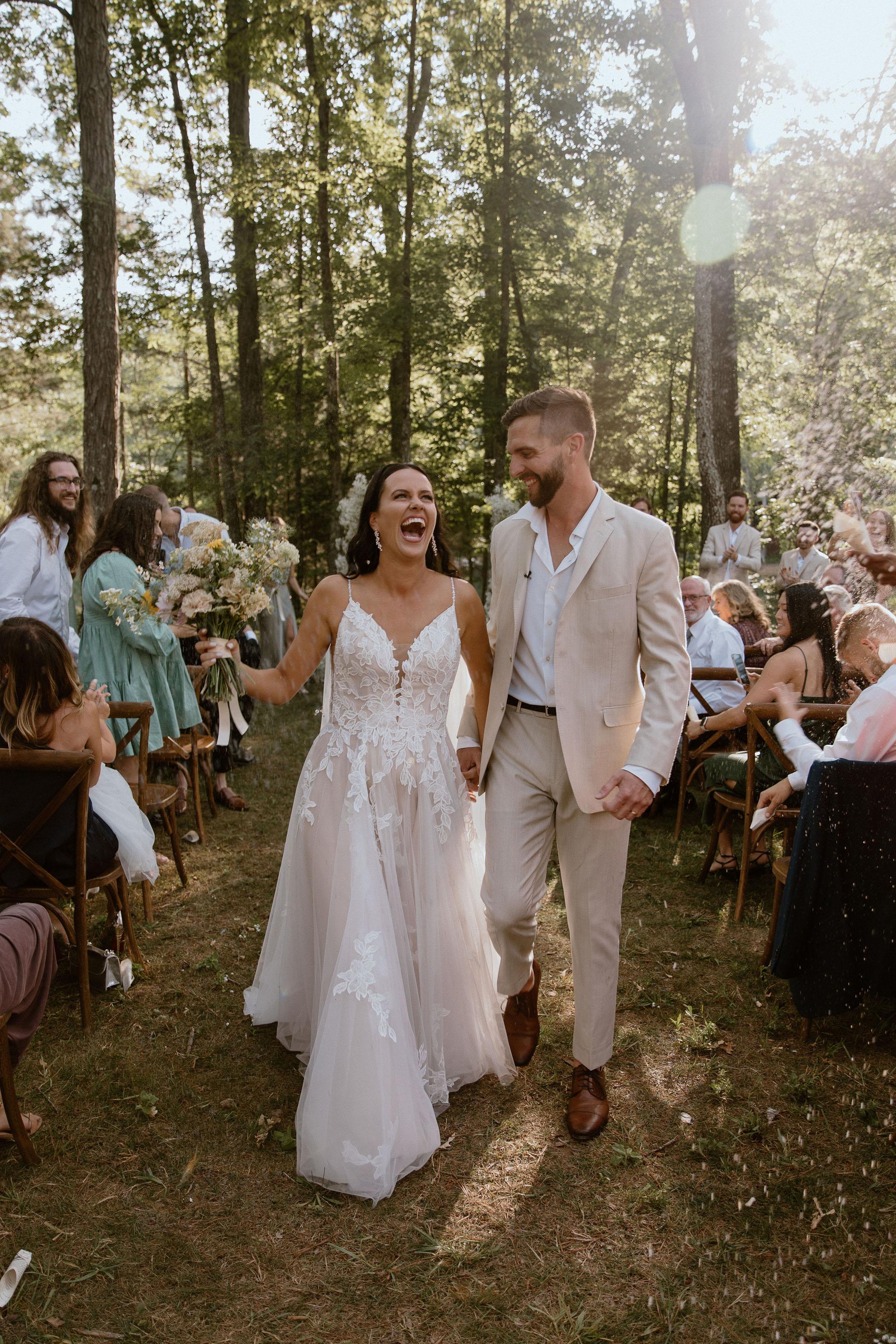 Beautiful Daytime Forest Wedding
