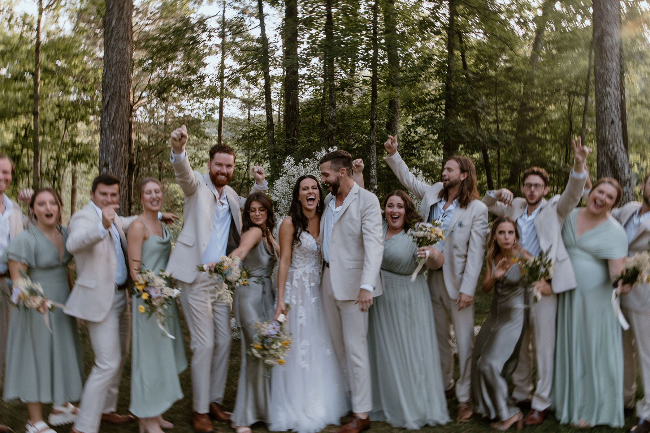 Bounce House Wedding in the Forest