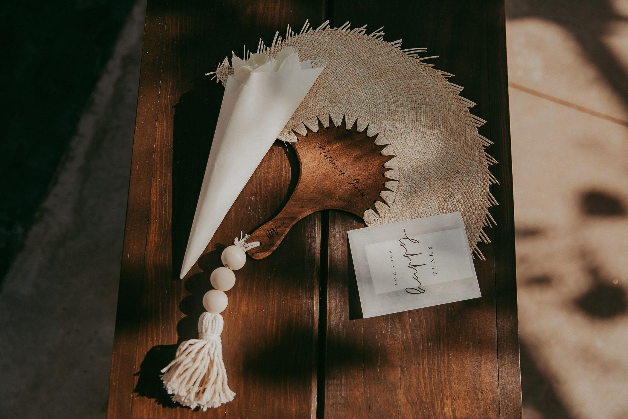 boho wedding fan
