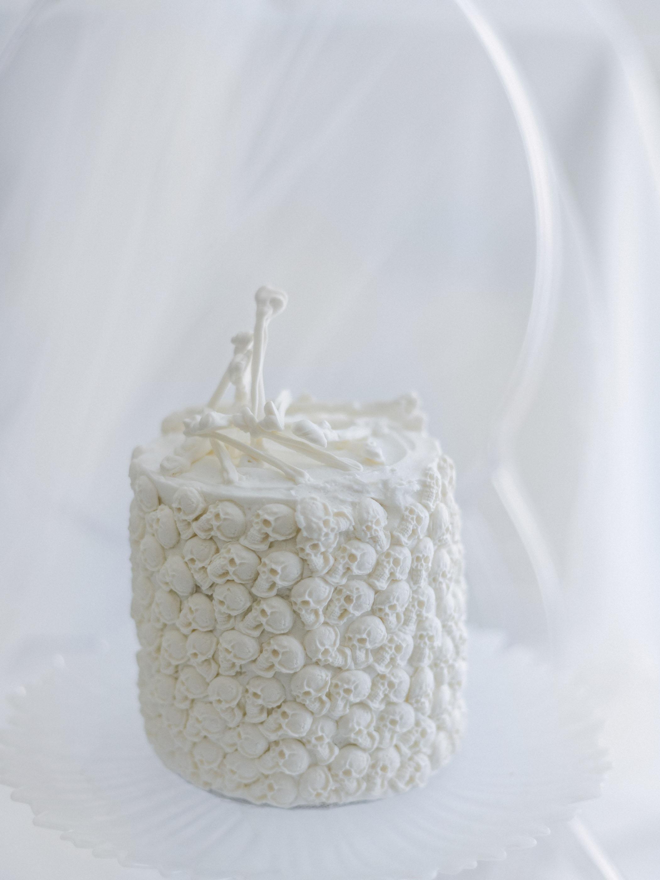 White Skeleton Cake