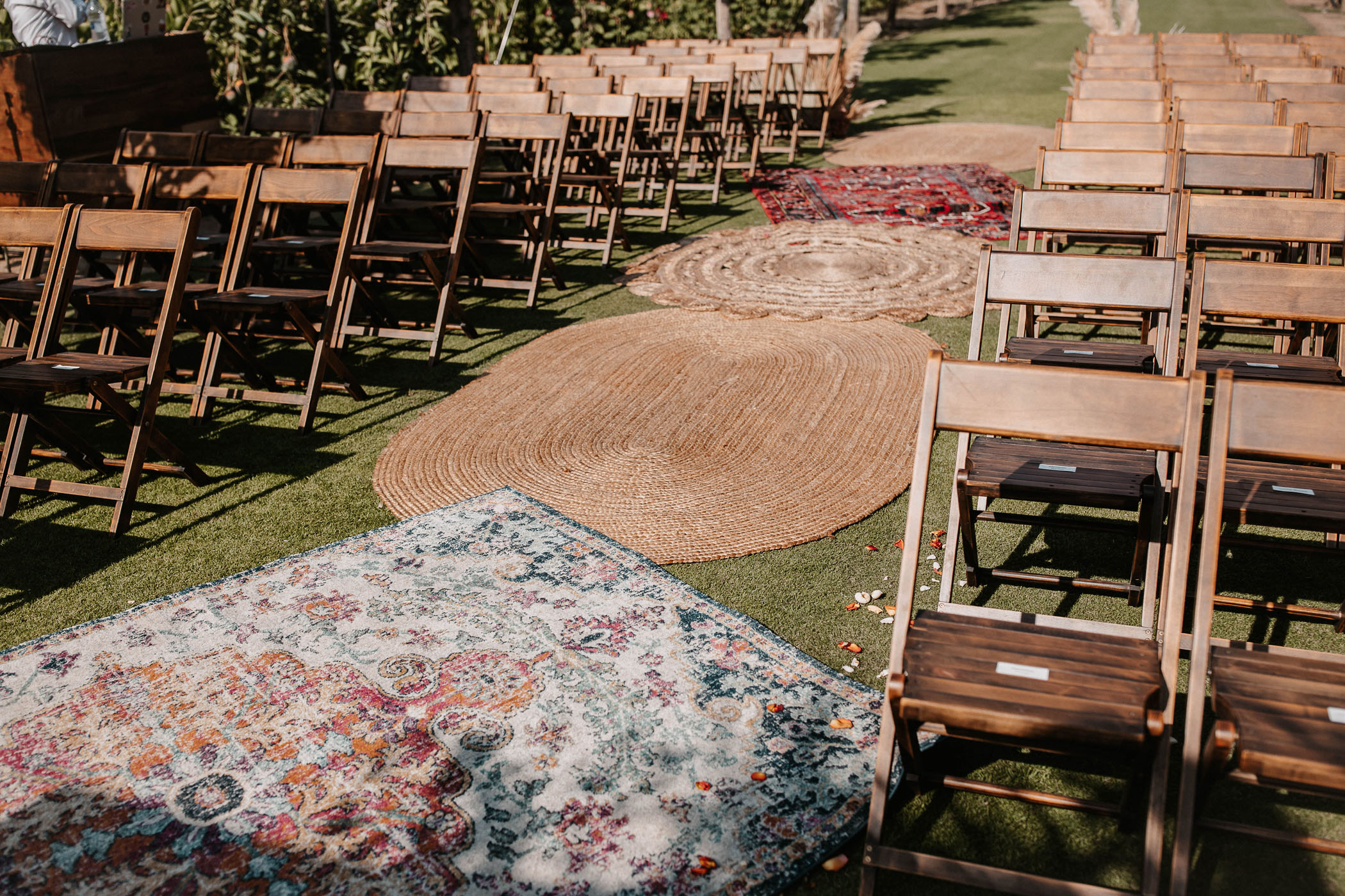 boho ceremony rugs