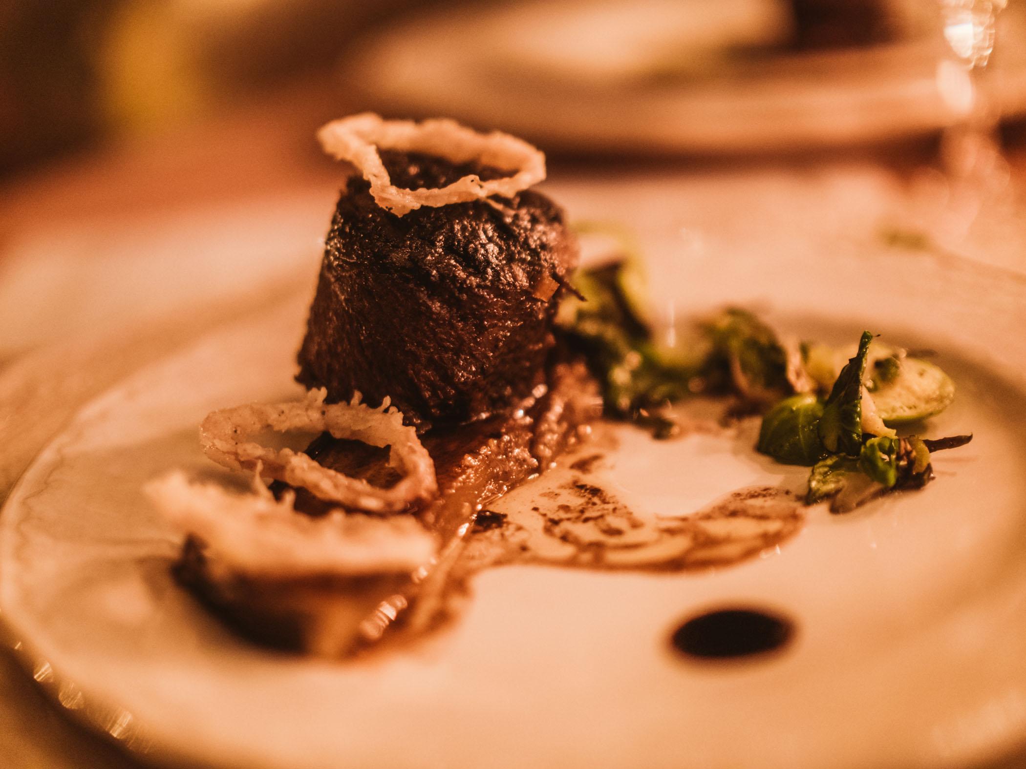 Elegant steak wedding dinner