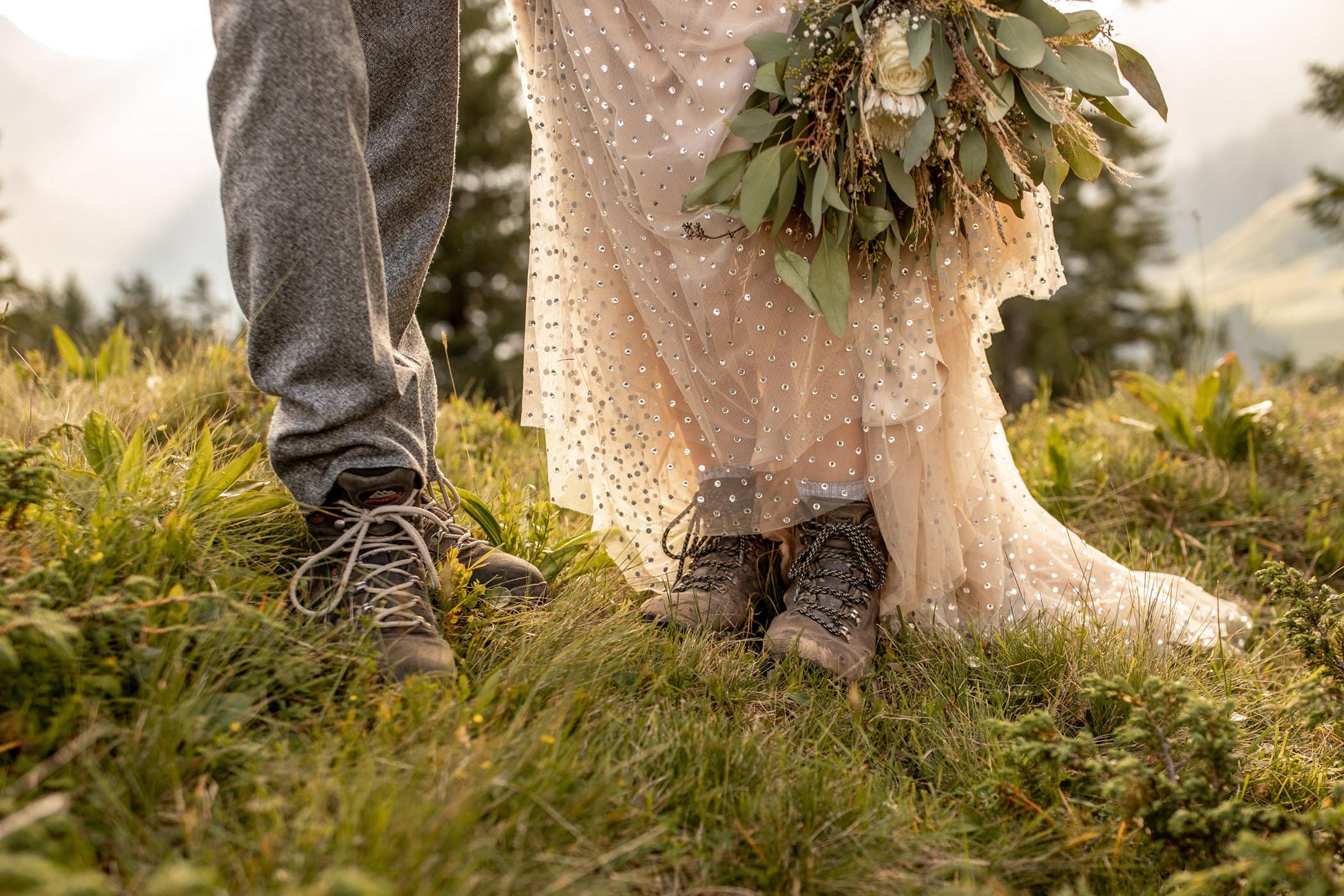 wedding hiking boots