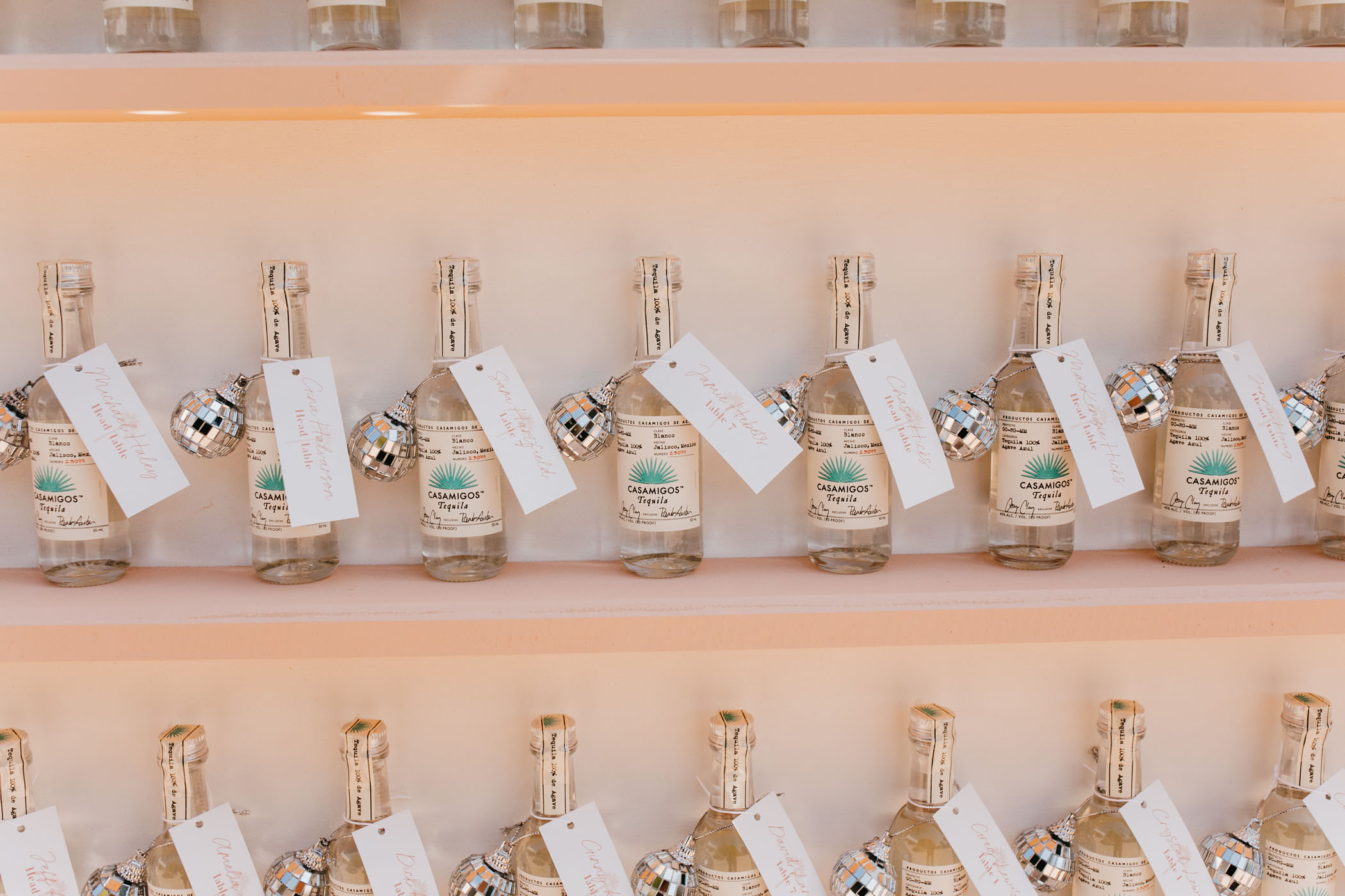 Personalized Tequila Escort Cards