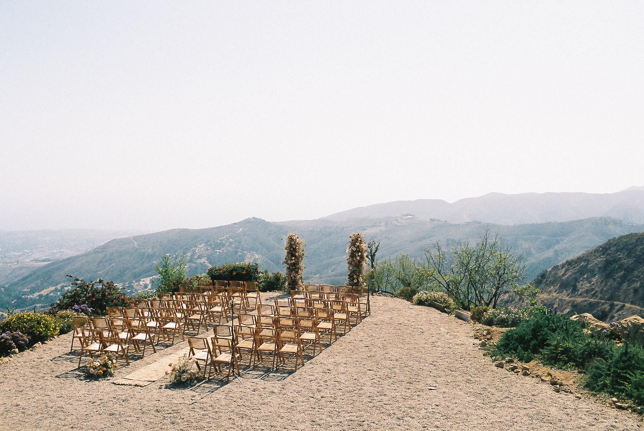 Malibu Mountaintop Small Wedding Ceremony